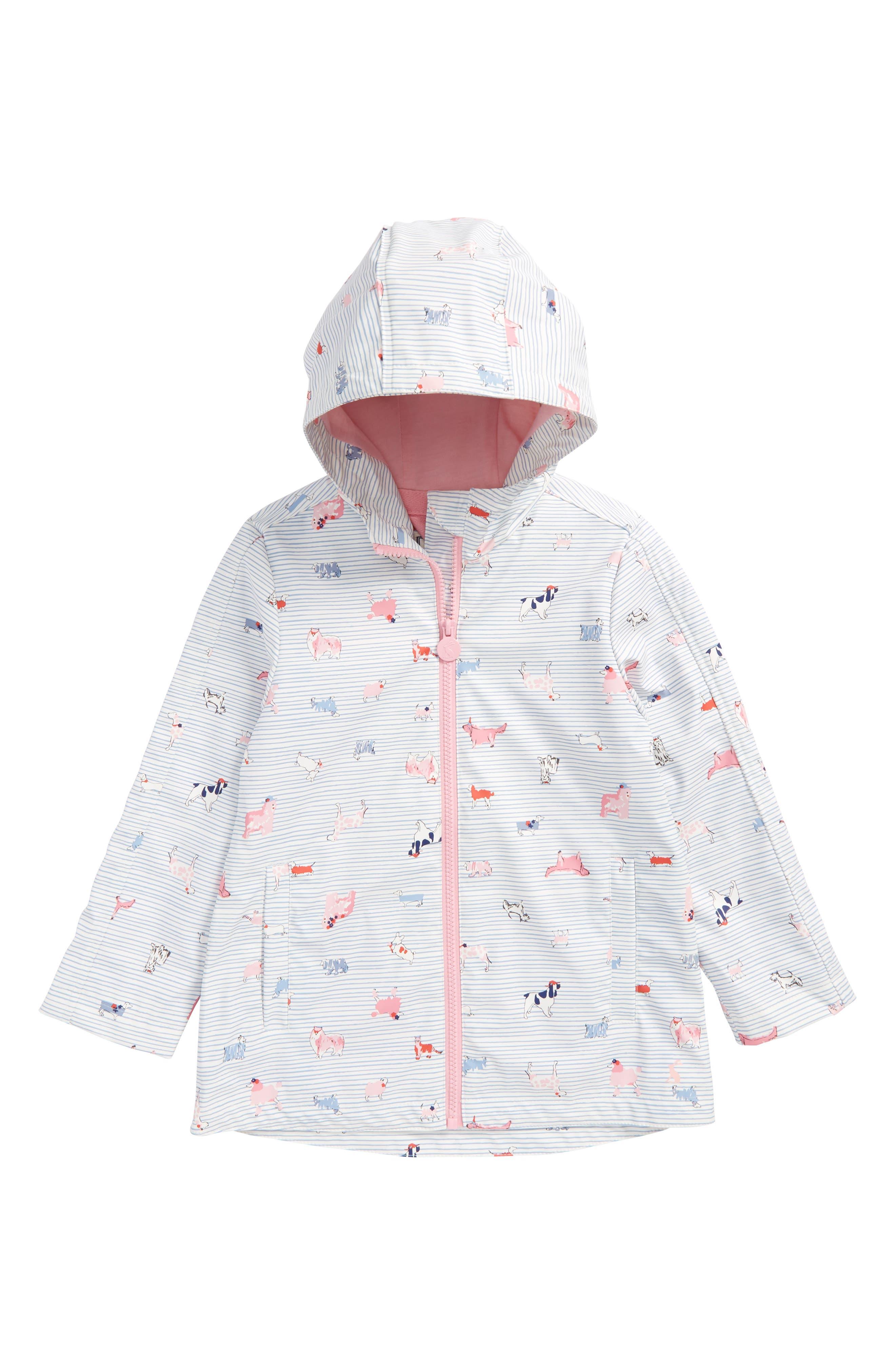 Fleece Lined Rain Jacket,                             Main thumbnail 1, color,                             Sunday Best Dog