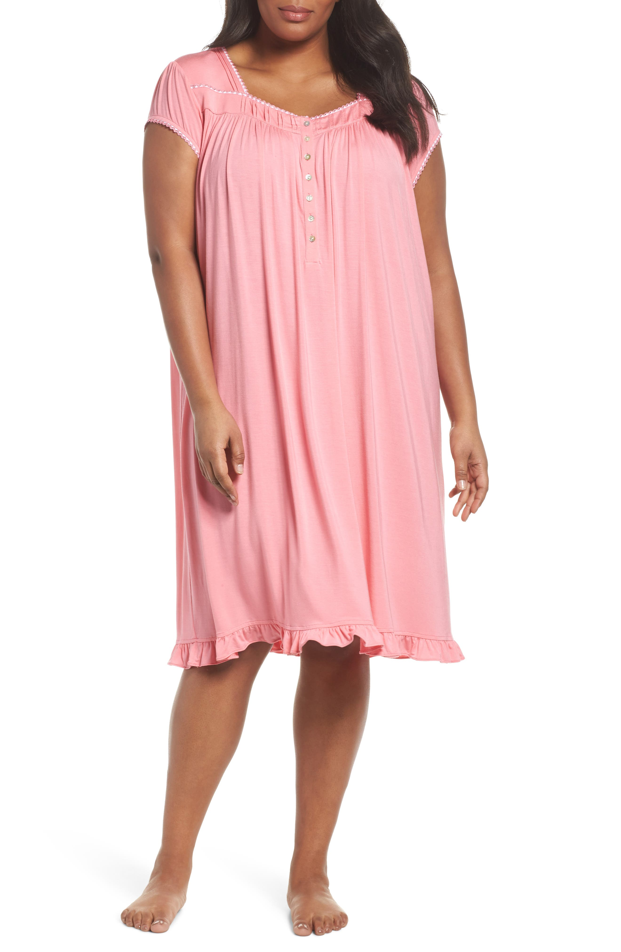 Main Image - Eileen West Jersey Waltz Nightgown (Plus Size)