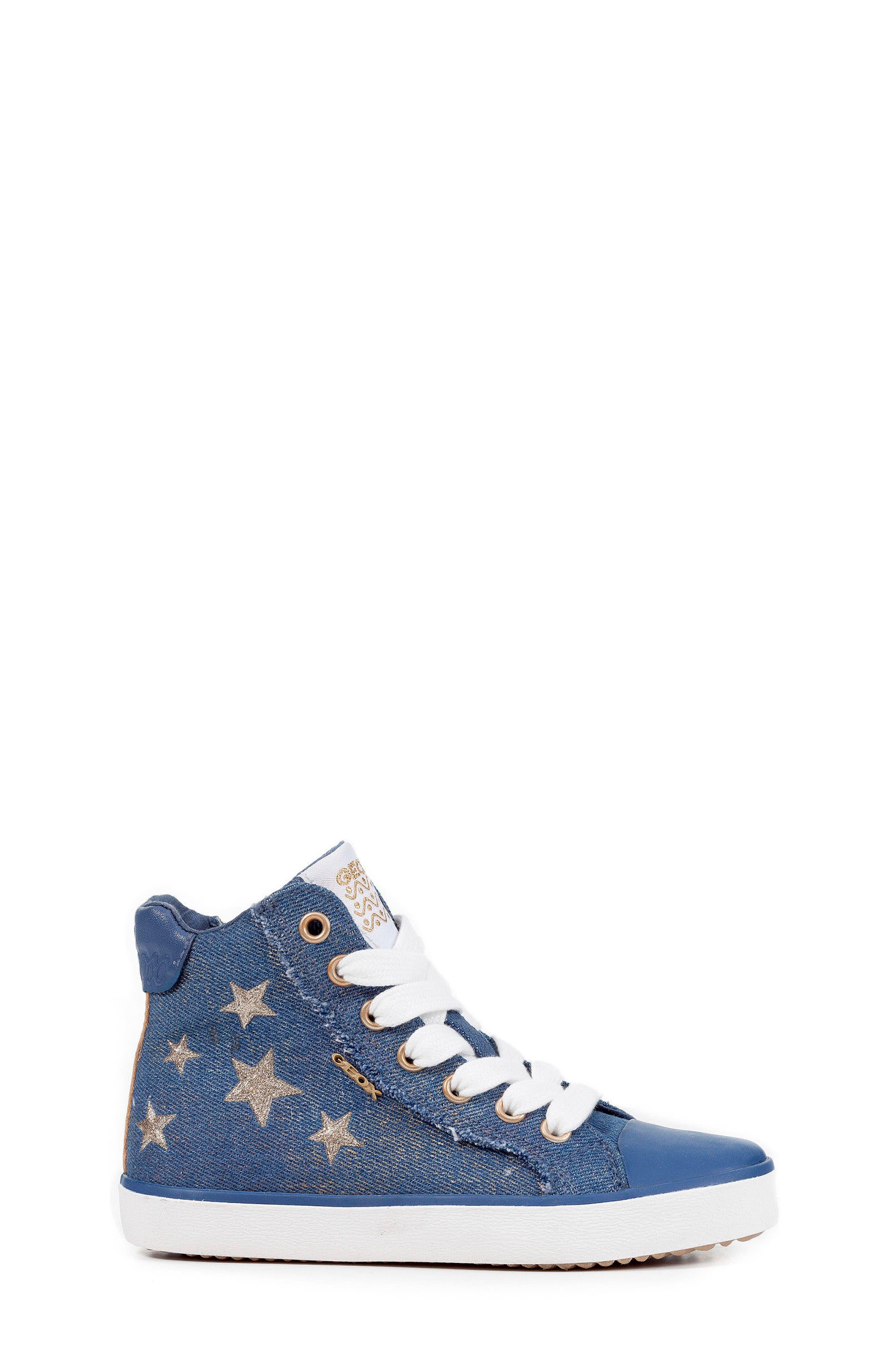 Kilwi High Top Zip Sneaker,                             Alternate thumbnail 3, color,                             Avio