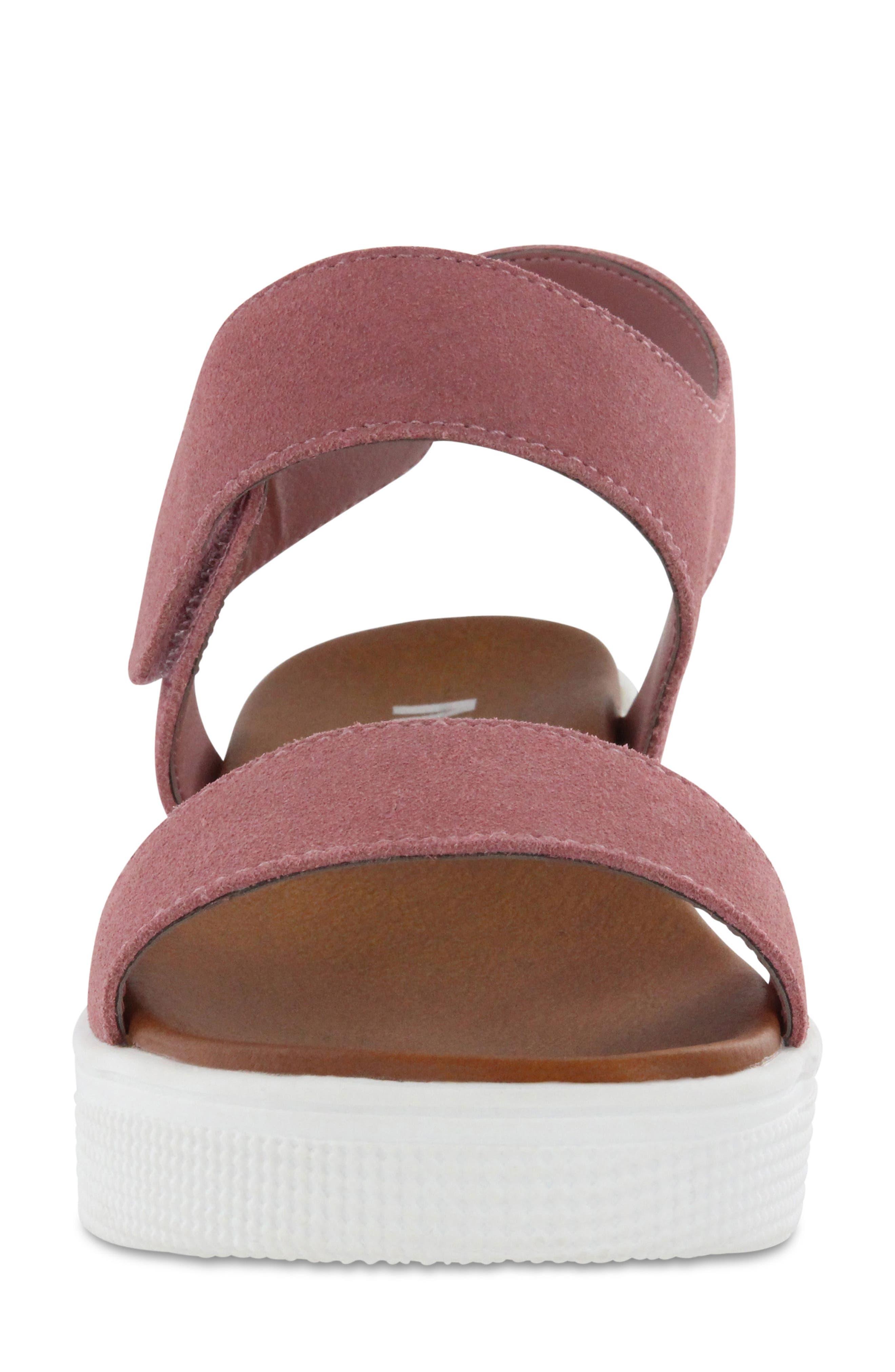 Troy Slingback Platform Sandal,                             Alternate thumbnail 4, color,                             Mauve Suede