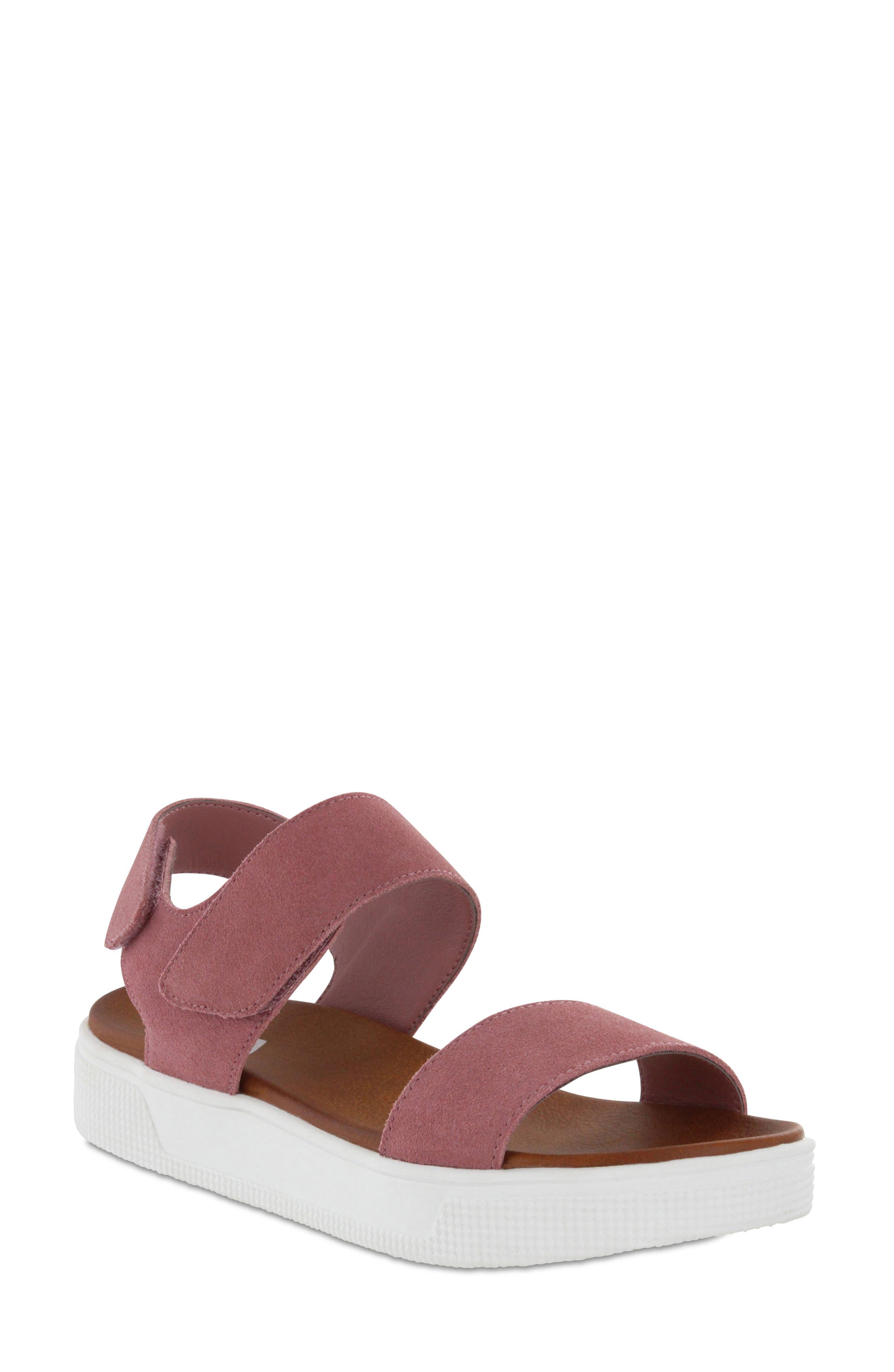 Troy Slingback Platform Sandal,                             Main thumbnail 1, color,                             Mauve Suede