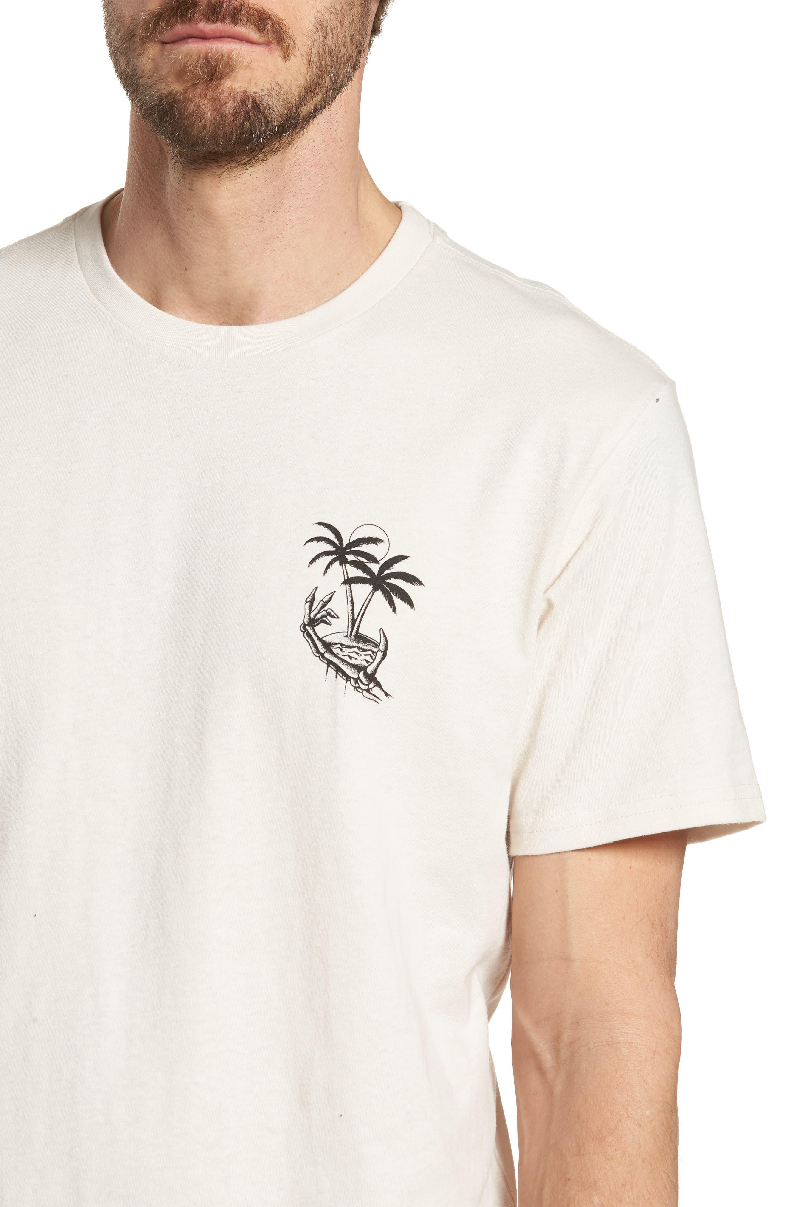 Permanent Vacation Graphic T-Shirt,                             Alternate thumbnail 3, color,                             Rock