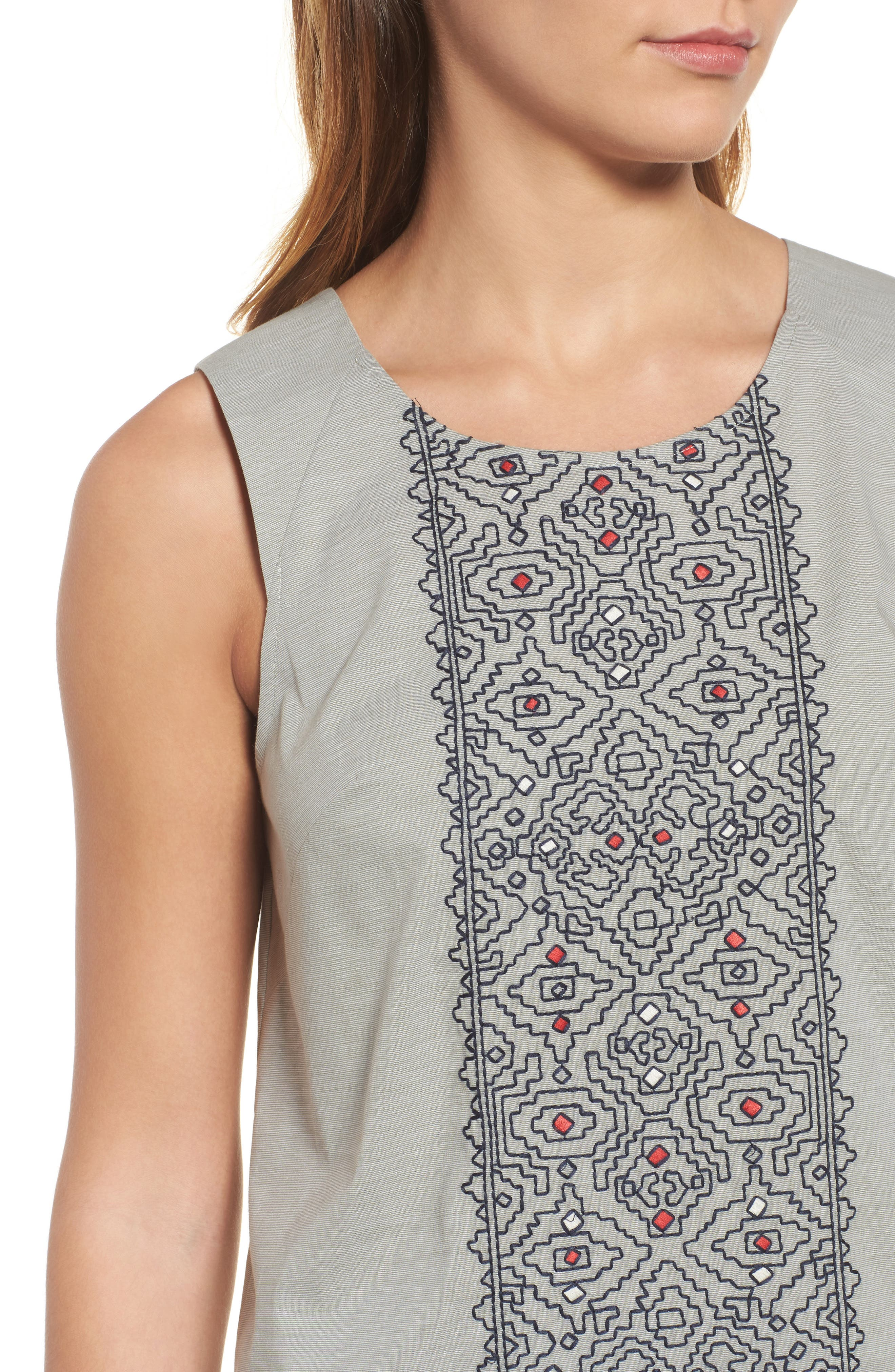 Cypress Embroidered Tank,                             Alternate thumbnail 4, color,                             Spring Moss Mix