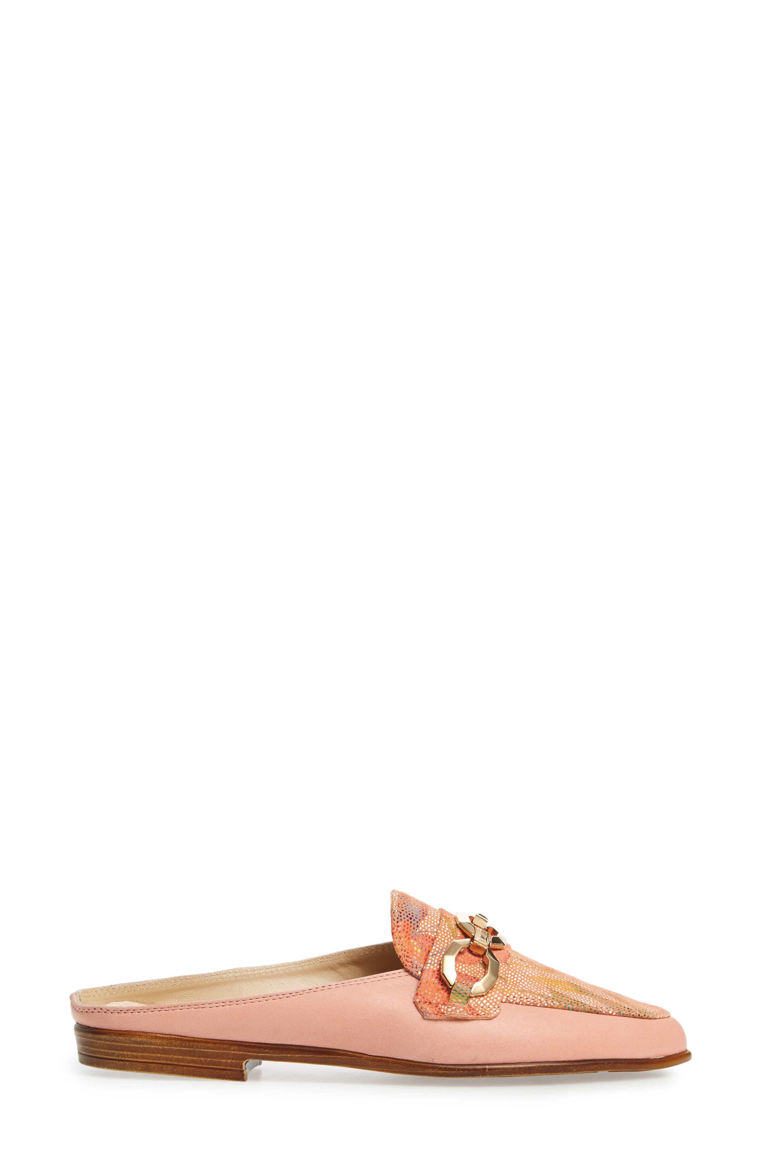 Almafi by Rangoni Otranto Loafer Slide,                             Alternate thumbnail 3, color,                             Rose Leather