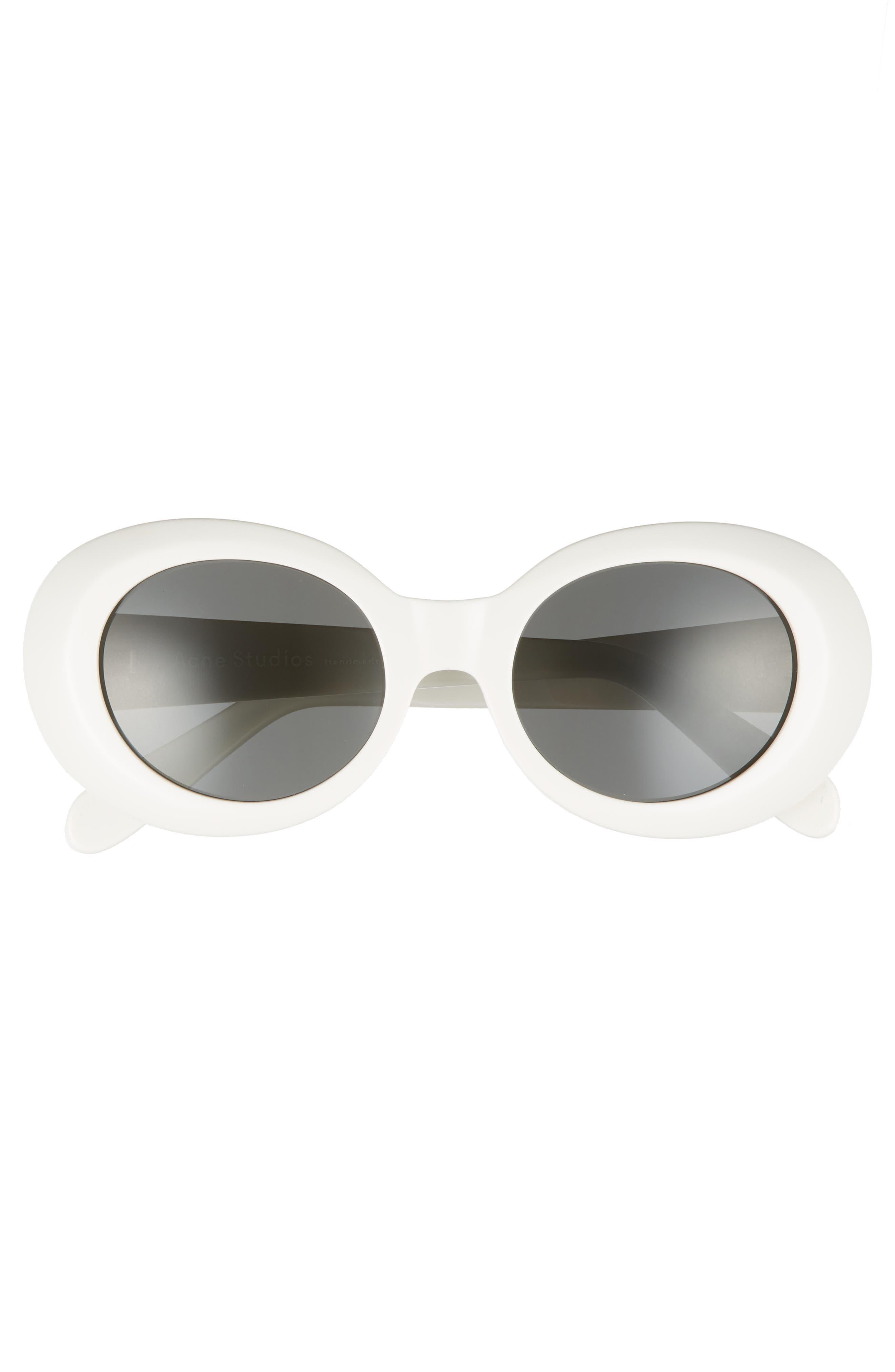 Mustang 48mm Sunglasses,                             Alternate thumbnail 3, color,                             Off White/ Black