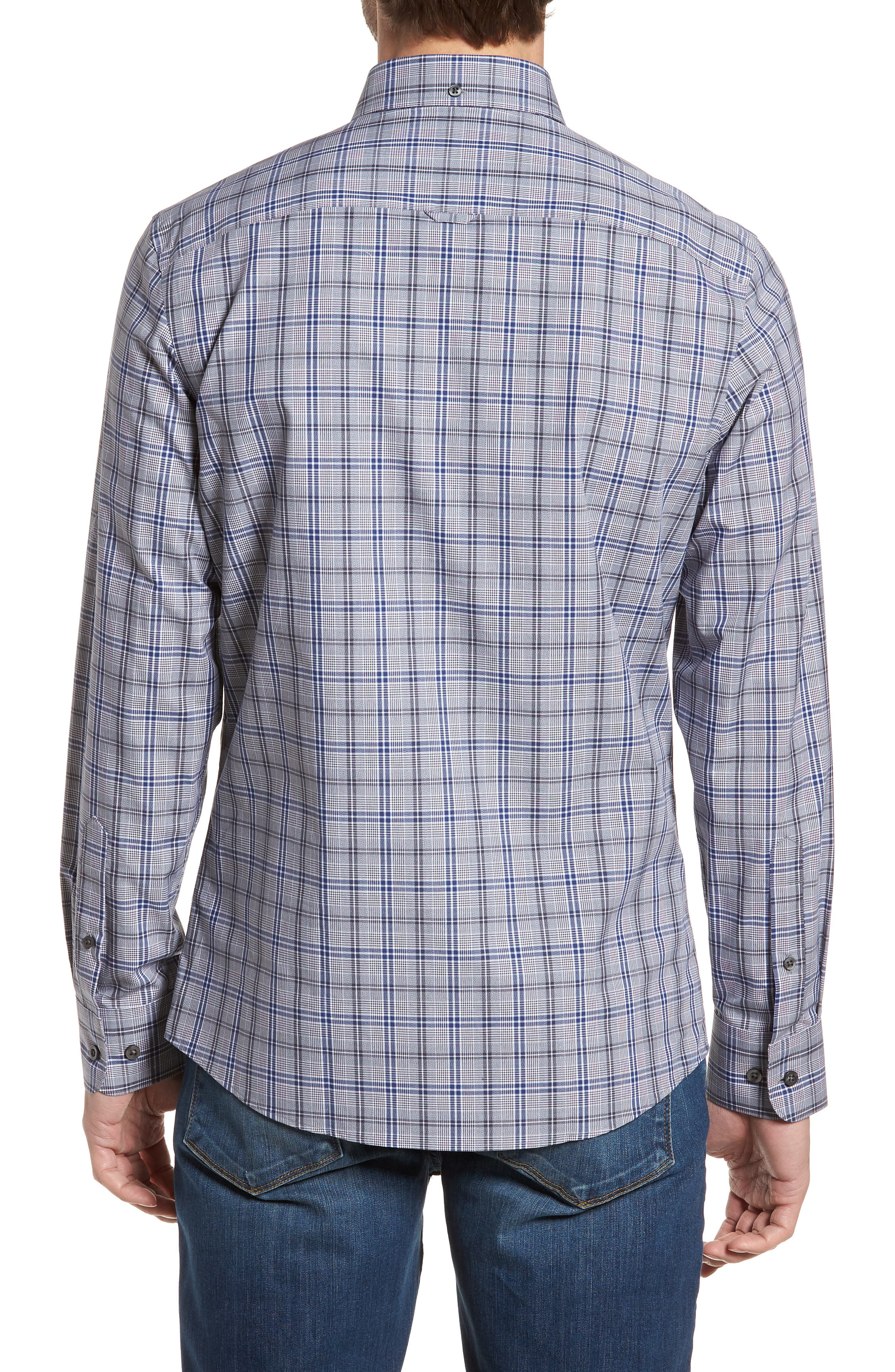 Alternate Image 3  - Nordstrom Men's Shop Trim Fit Non-Iron Check Sport Shirt