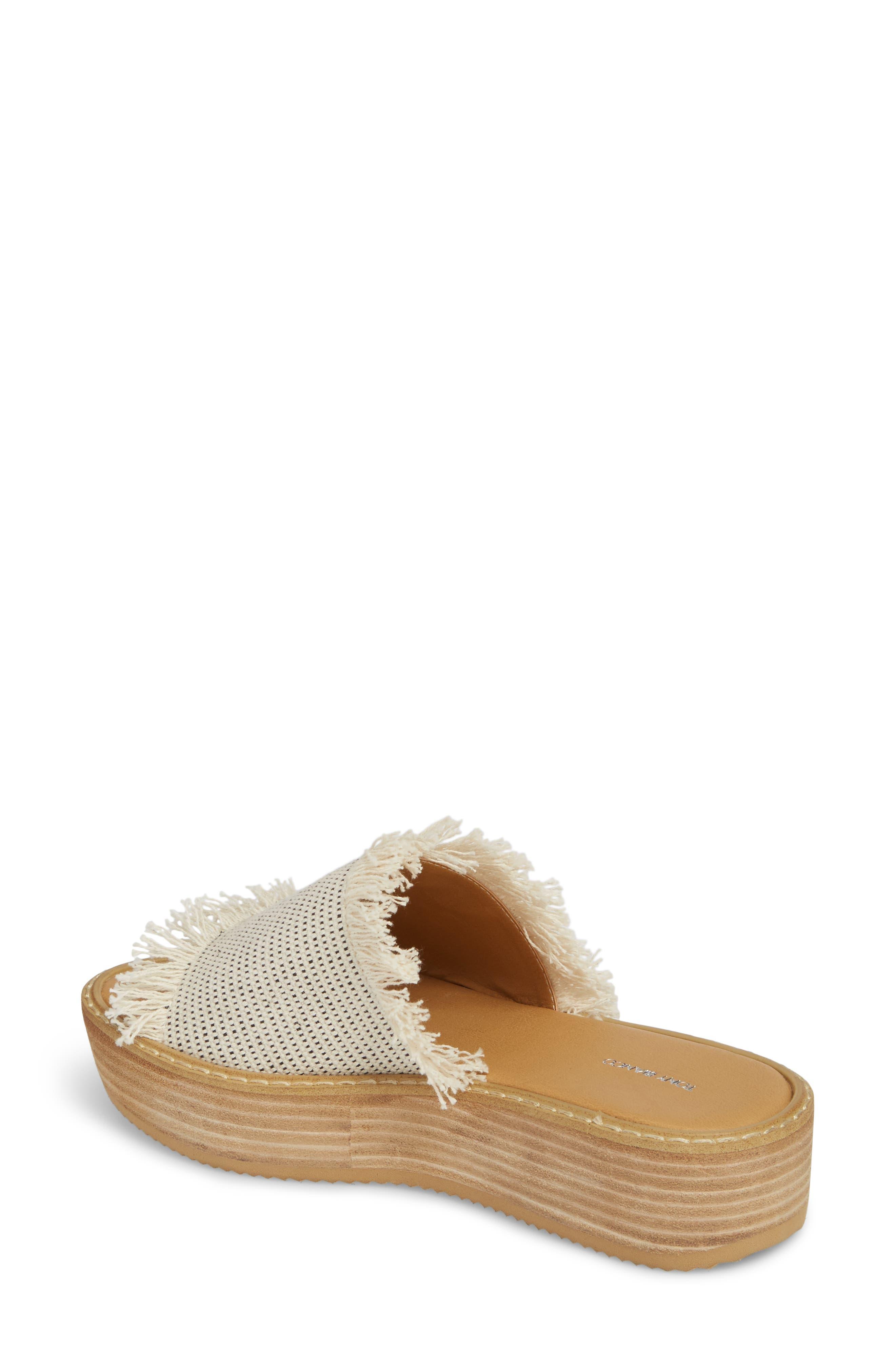Ebony Platform Sandal,                             Alternate thumbnail 2, color,                             White/ Black Osaka Fabric