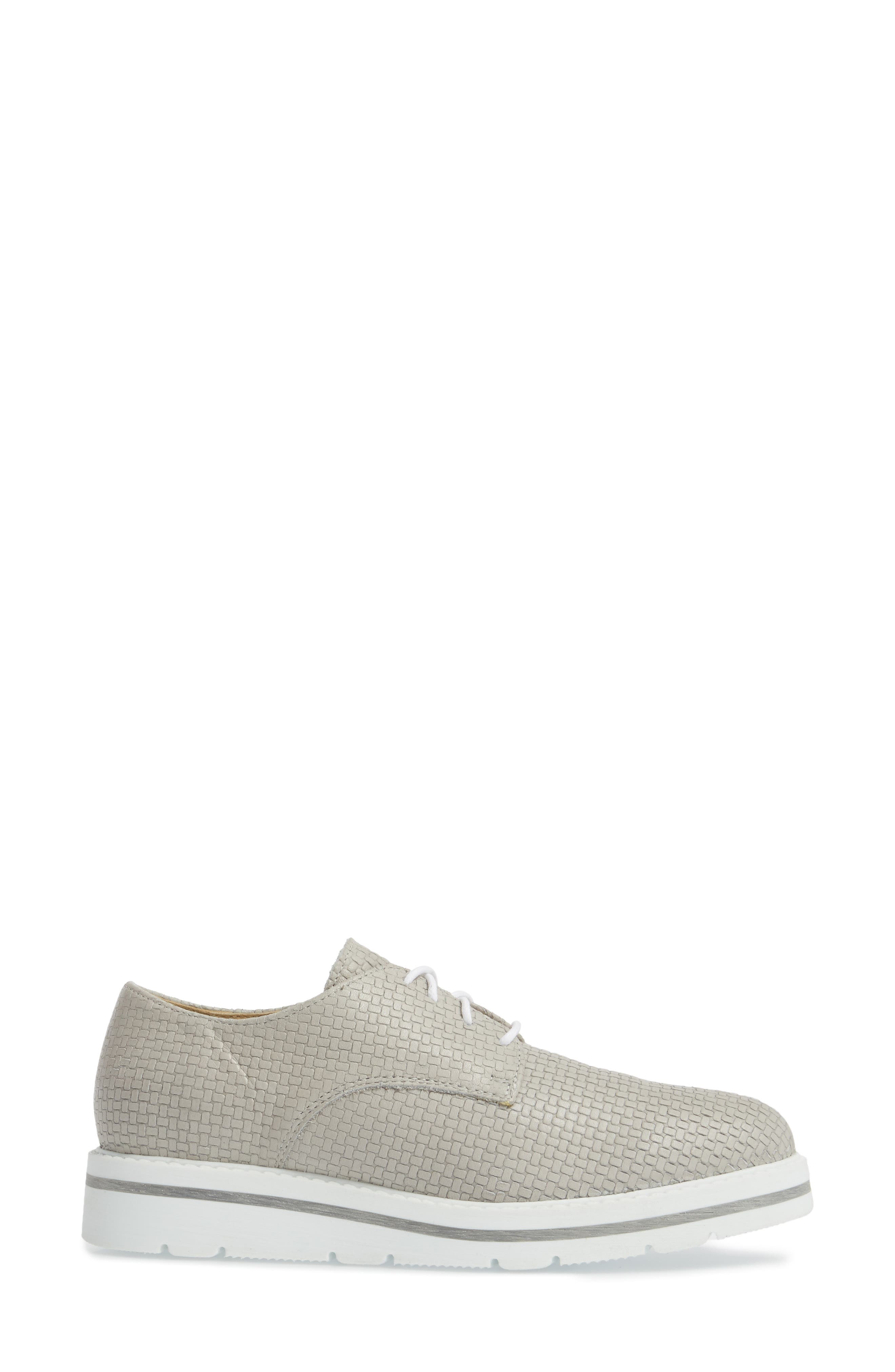 Lando Sneaker Derby,                             Alternate thumbnail 5, color,                             Light Grey Sauvage Leather