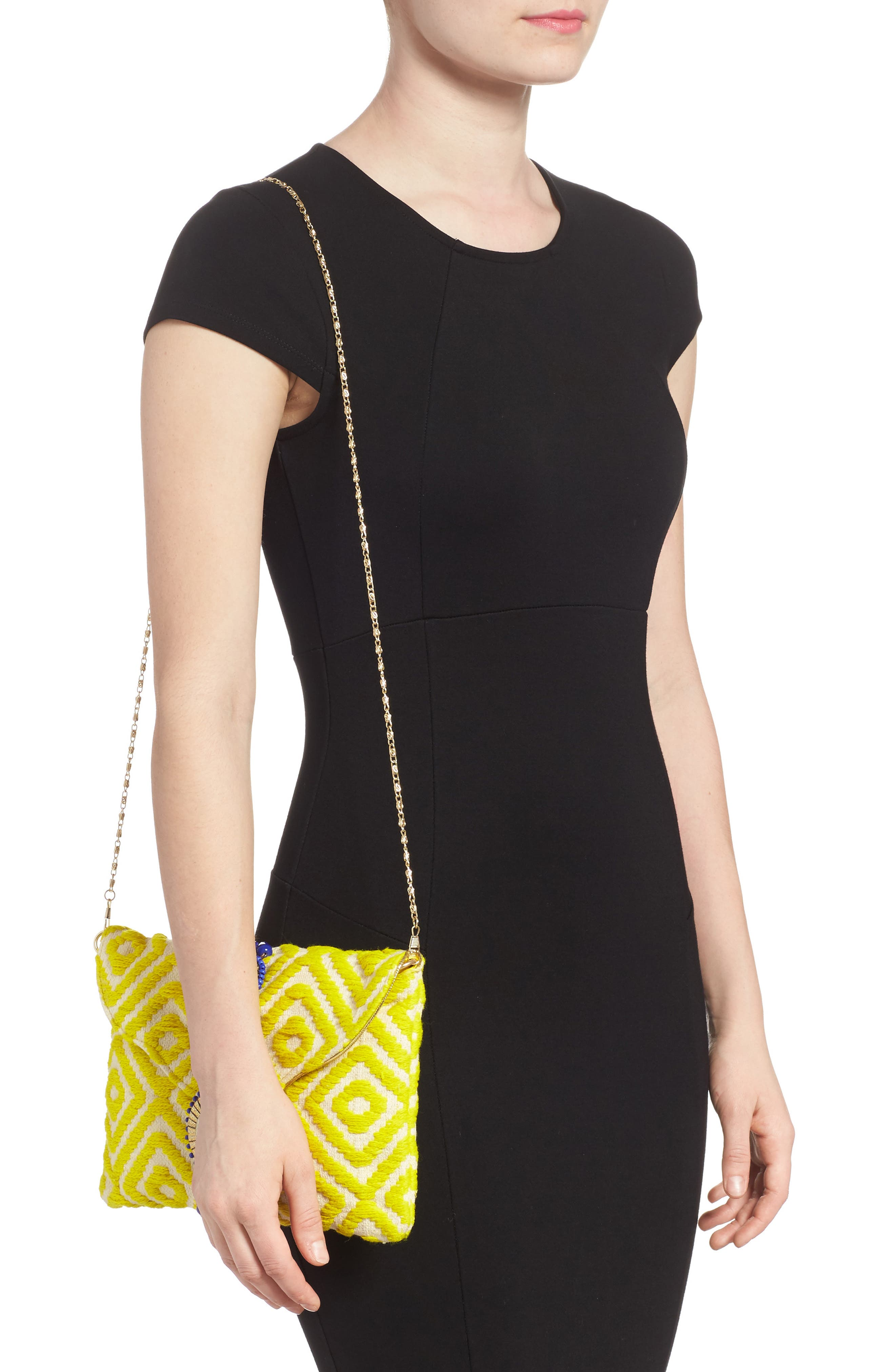 Alternate Image 2  - Steven by Steve Madden Beaded & Embroidered Clutch