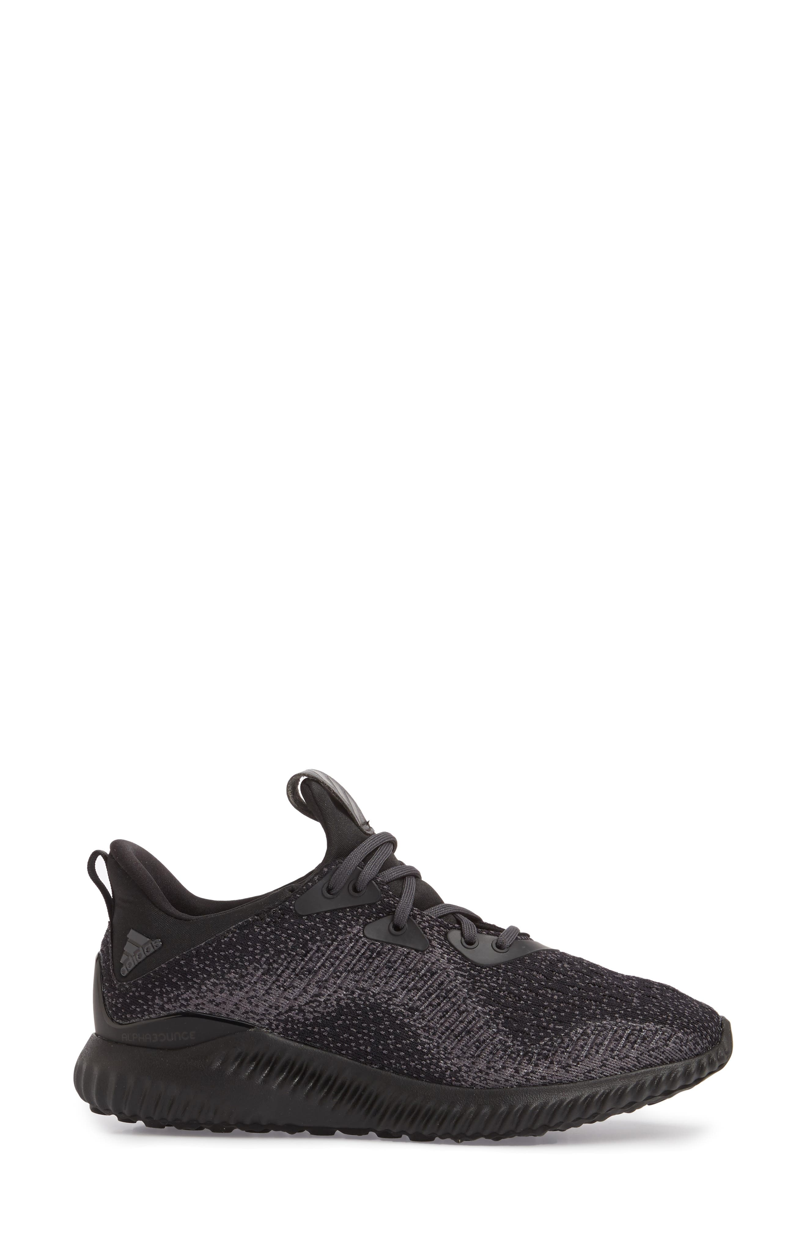 AlphaBounce EM Running Shoe,                             Alternate thumbnail 3, color,                             Core Black/ Trace Grey/ Carbon