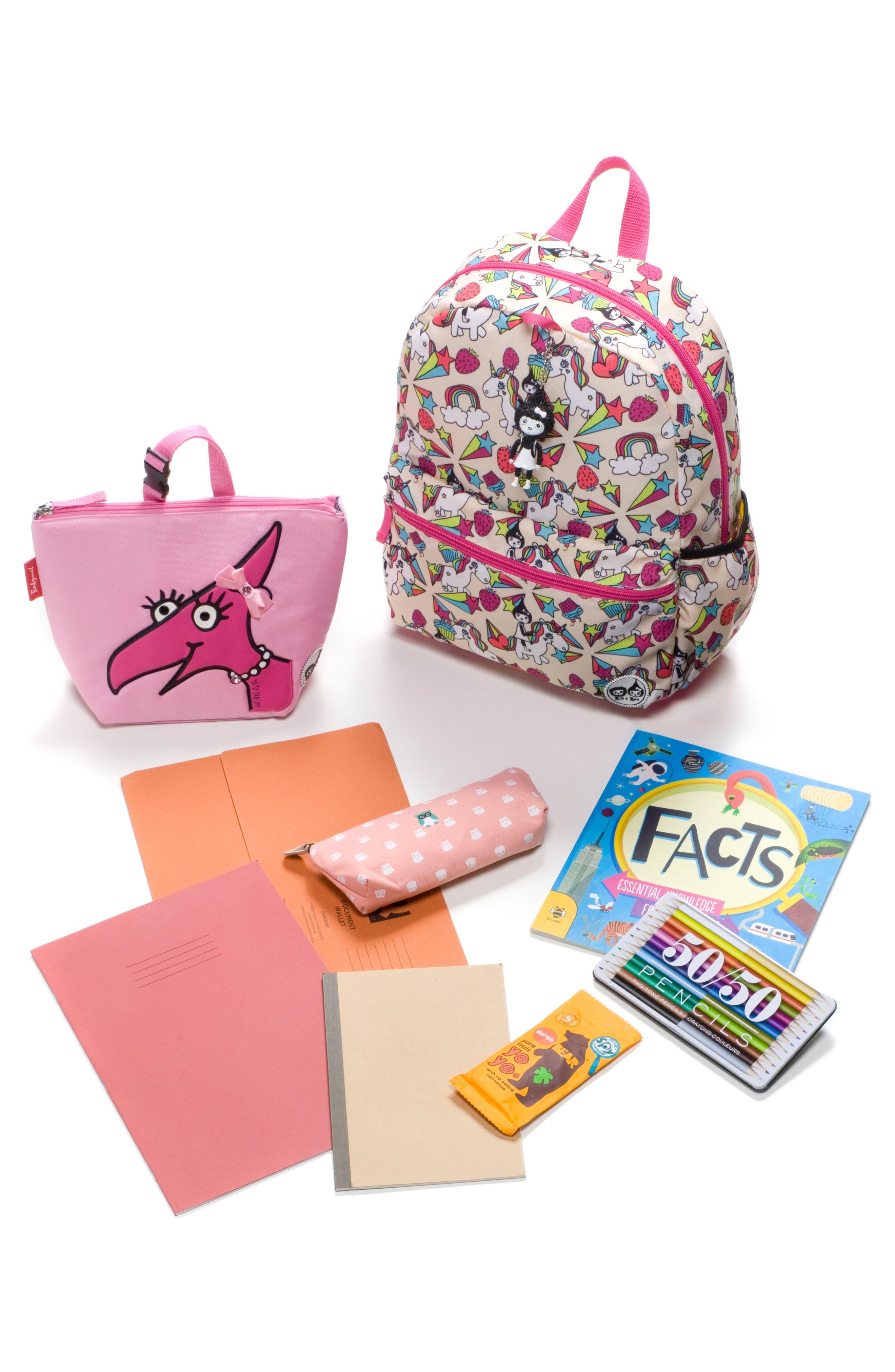 Zip & Zoe Unicorn Junior Backpack,                             Alternate thumbnail 7, color,                             White