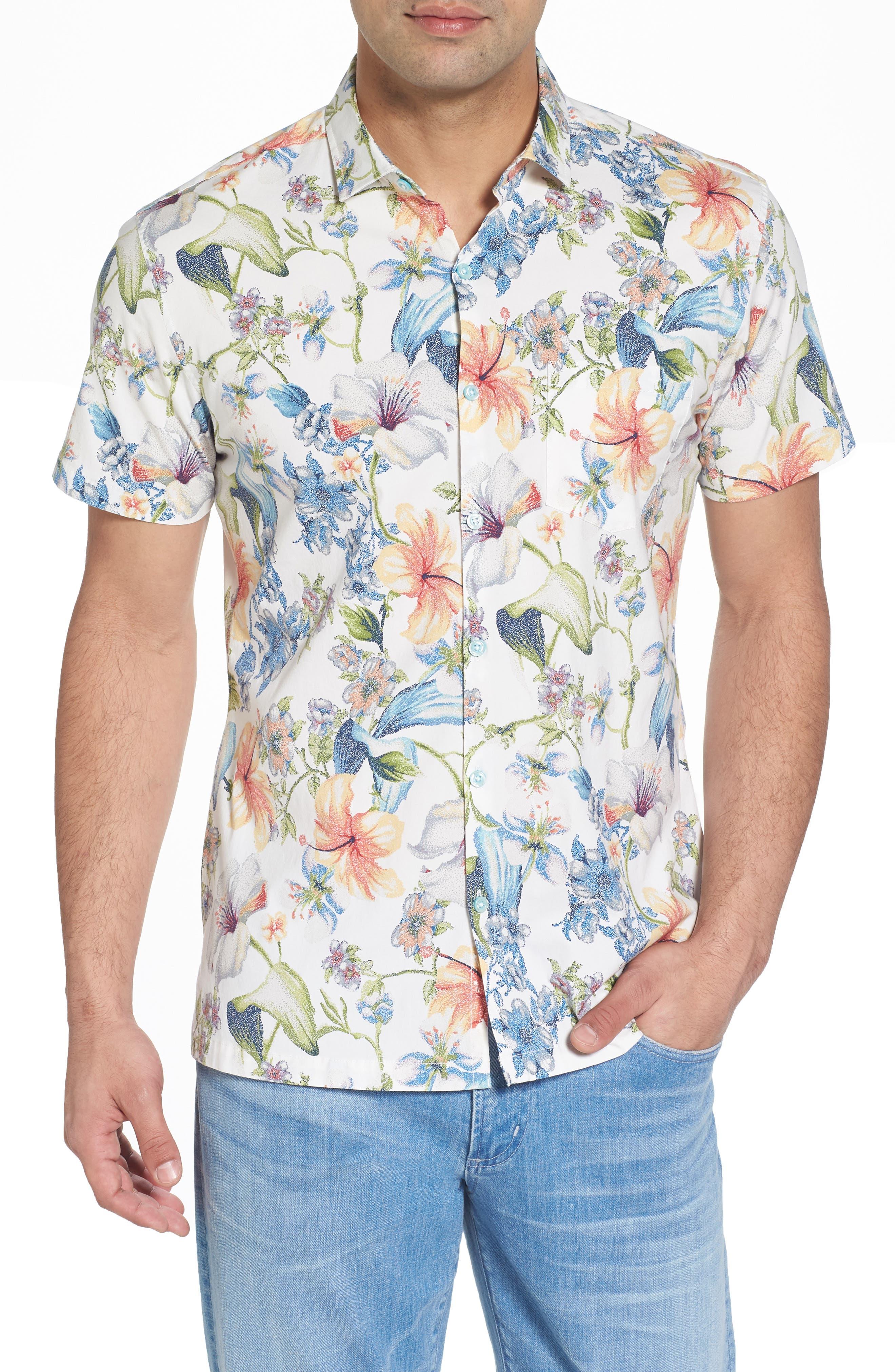 Que Seuret Sport Shirt,                         Main,                         color, Eggshell