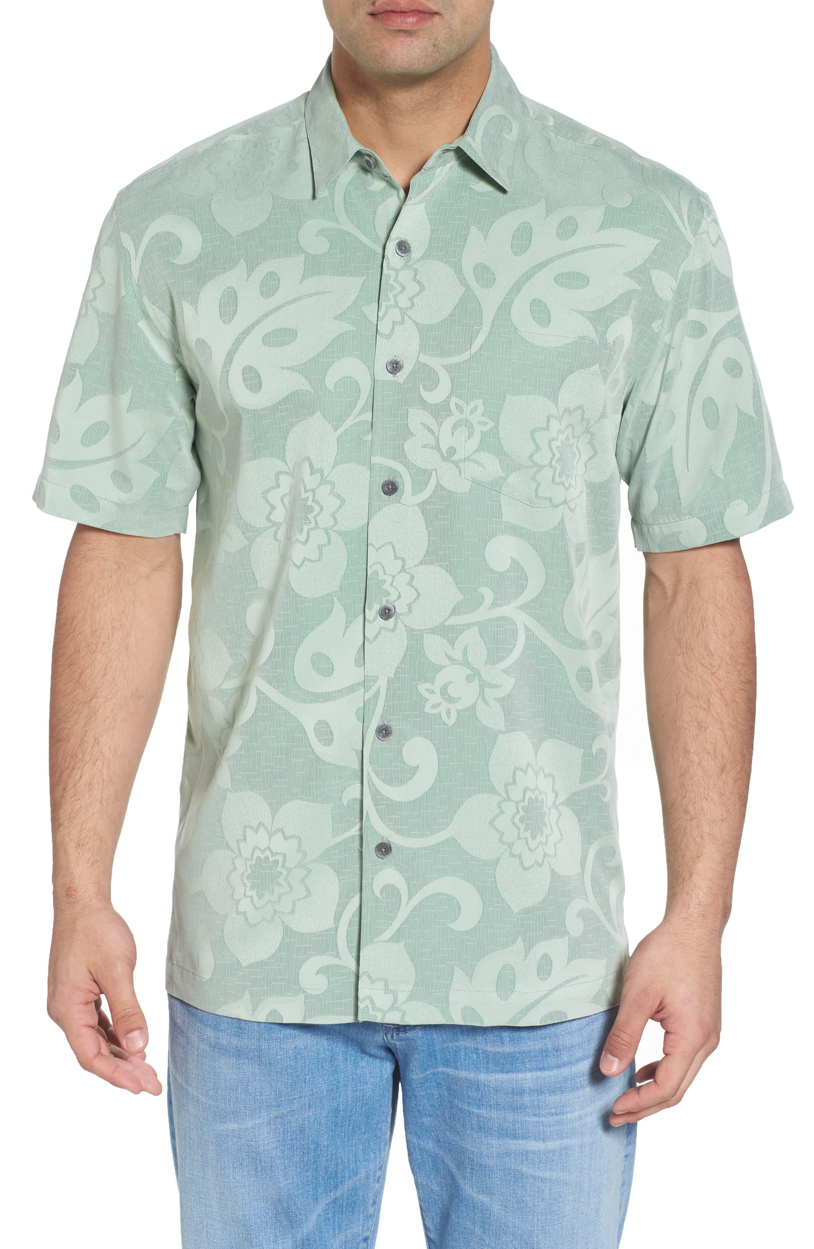 Kalawai Relaxed Fit Camp Shirt,                         Main,                         color, Green