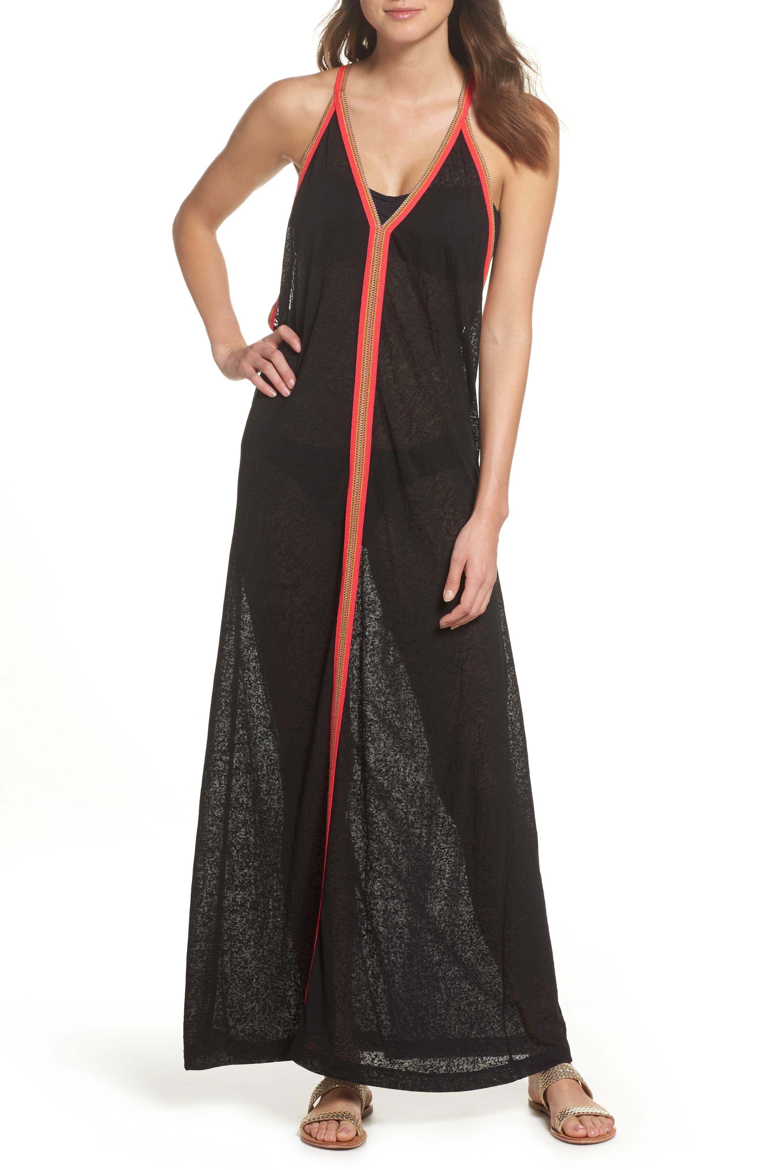 Inca Cover-Up Maxi Sundress,                         Main,                         color, Black