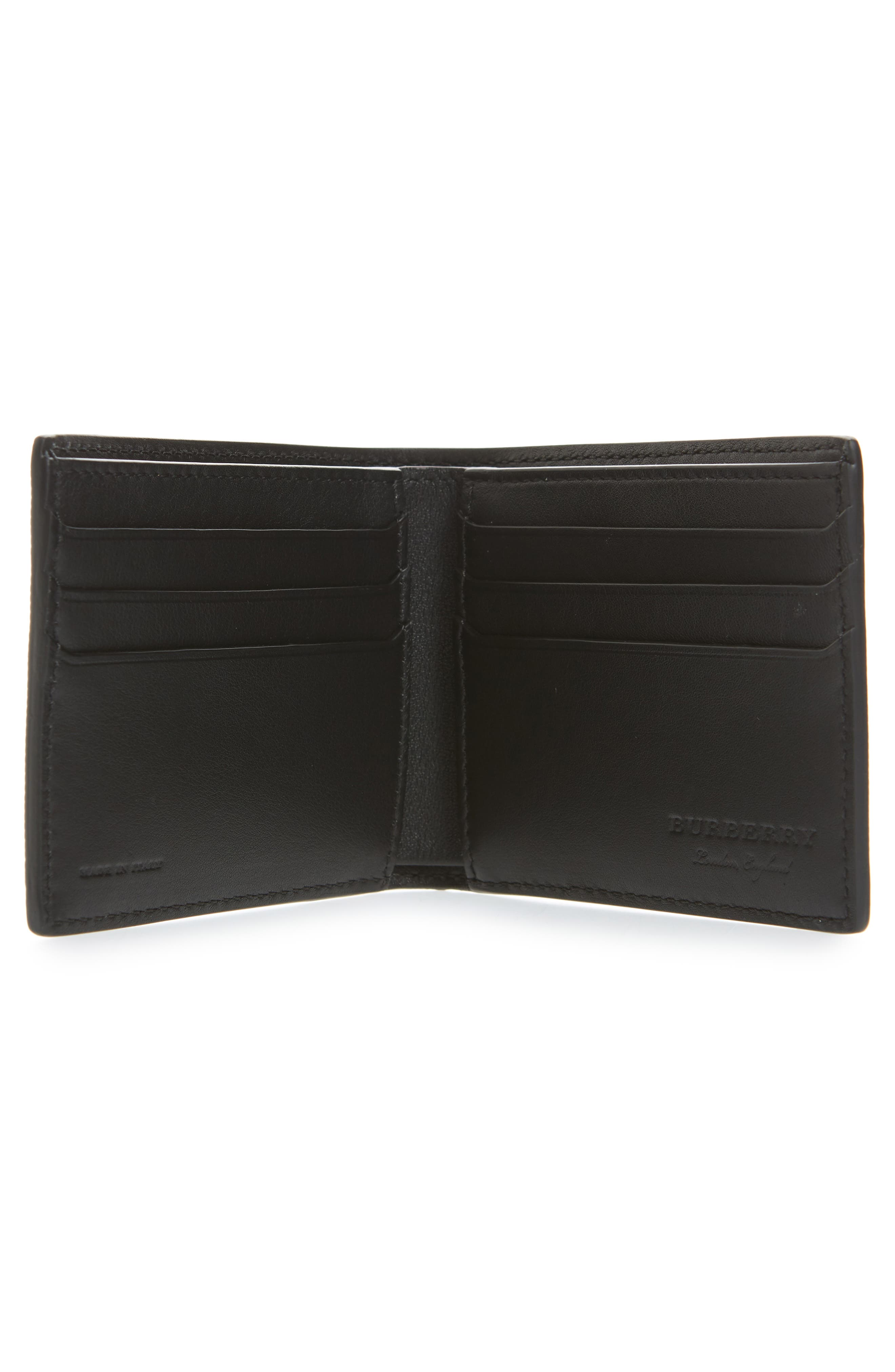 Trench Splash Leather Wallet,                             Alternate thumbnail 3, color,                             Black/ Splash