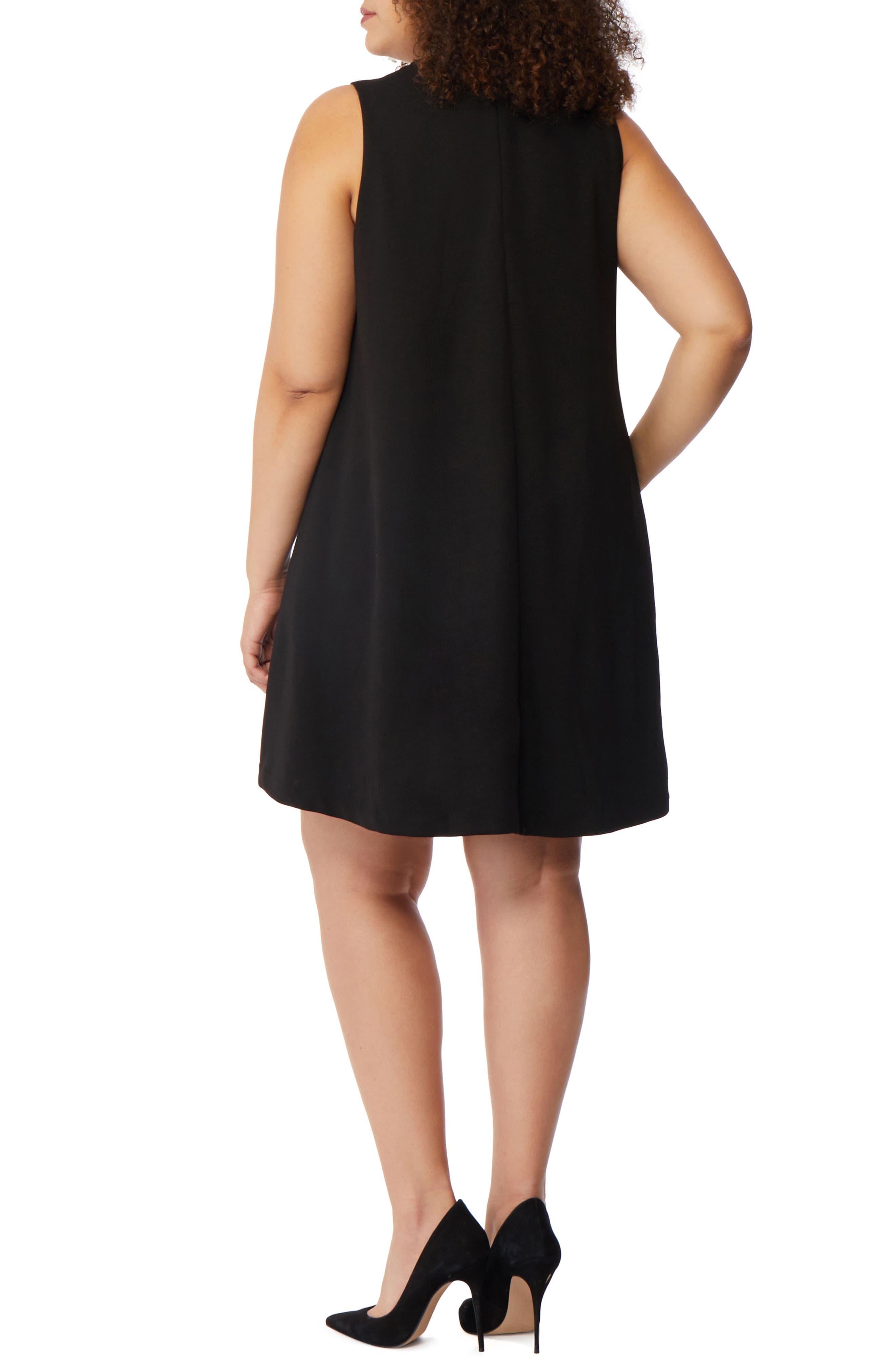 Beaded Choker Dress,                             Alternate thumbnail 2, color,                             Black