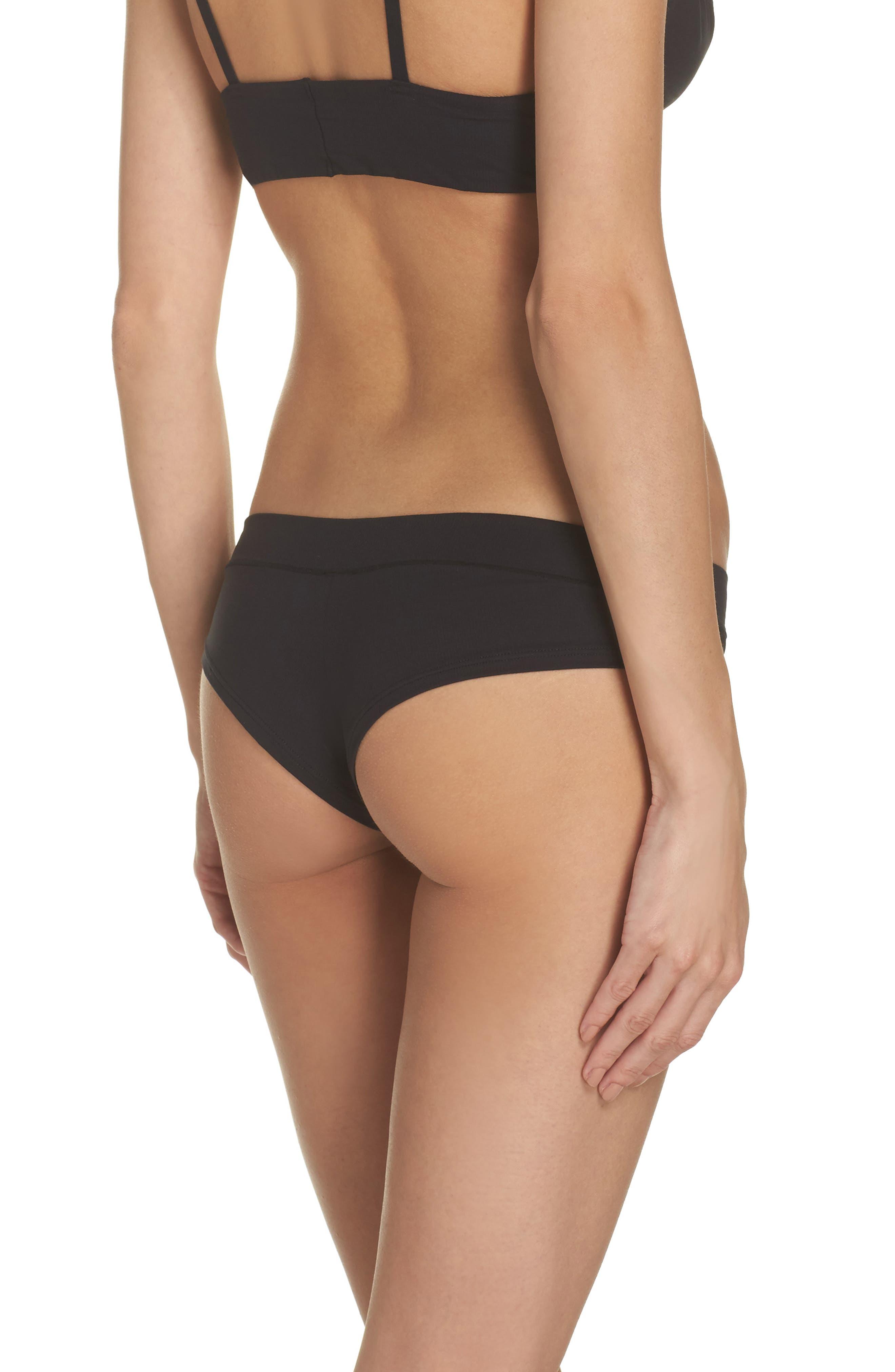 Cheeky Bikini,                             Alternate thumbnail 2, color,                             Black