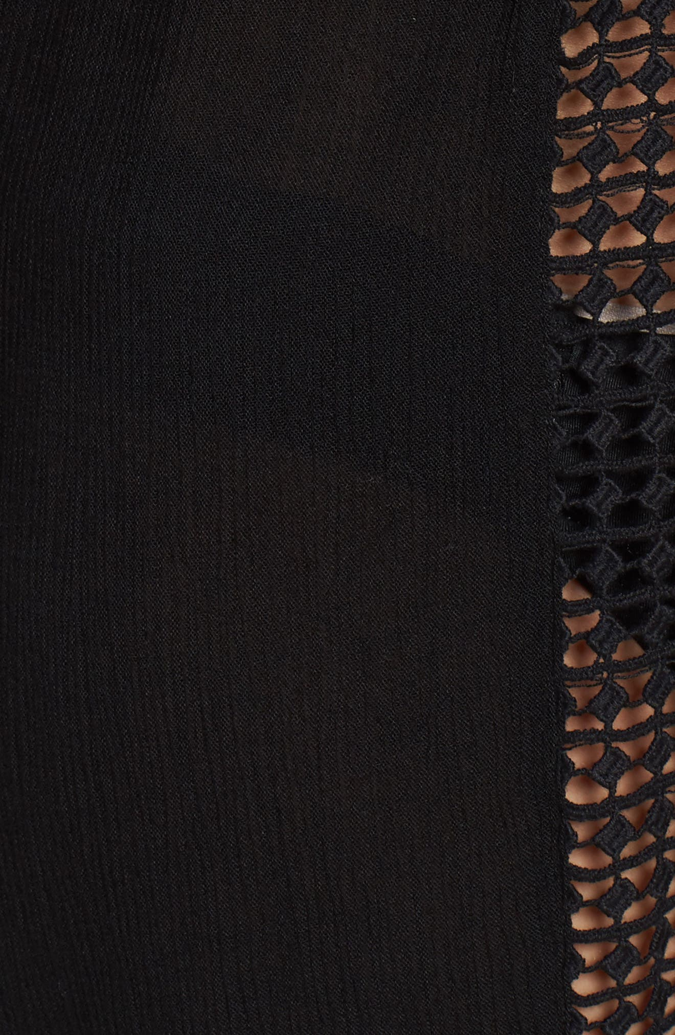 Crochet Cover-Up Tunic,                             Alternate thumbnail 5, color,                             Black