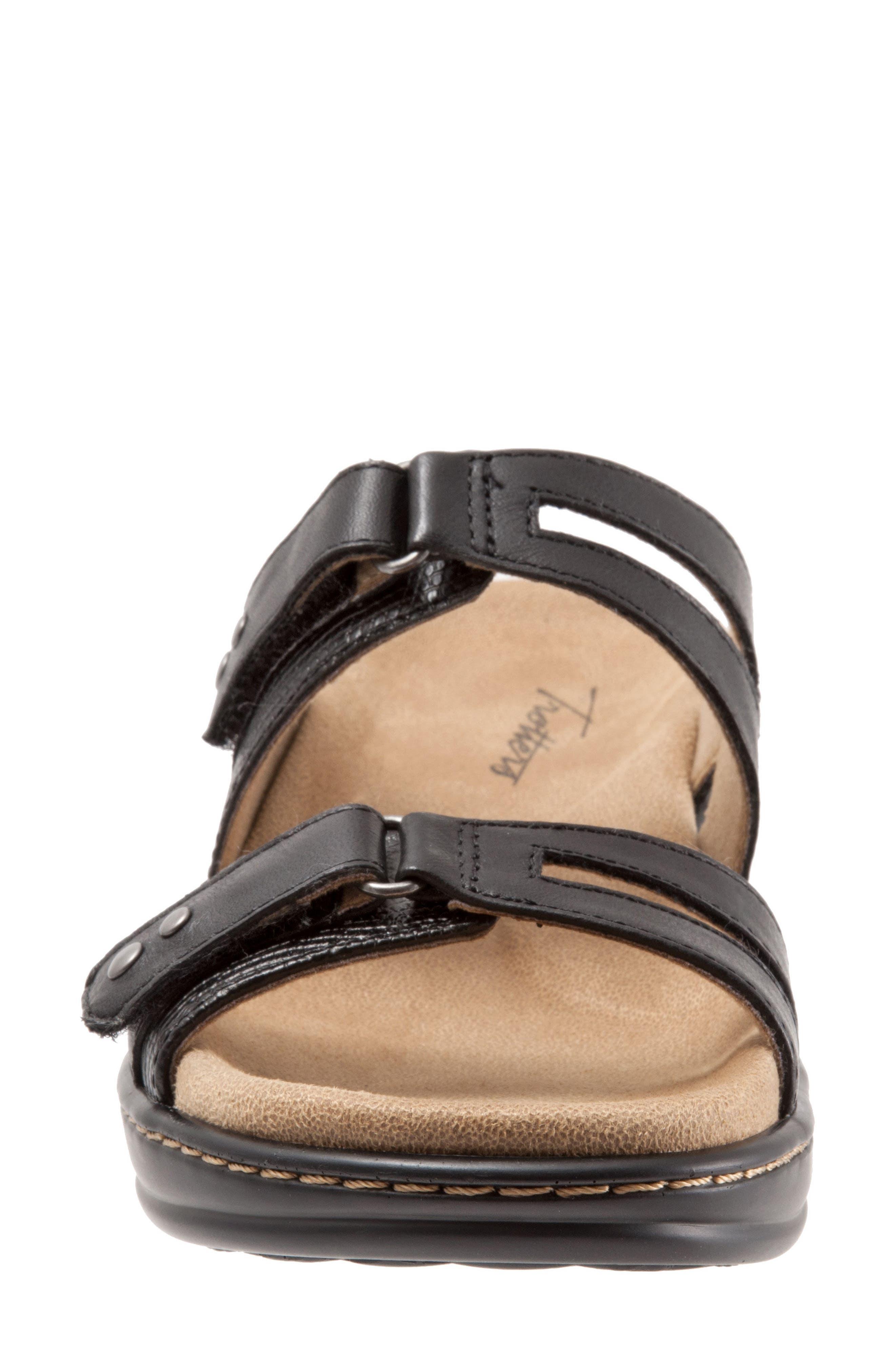 Neiman Sandal,                             Alternate thumbnail 4, color,                             Black Leather