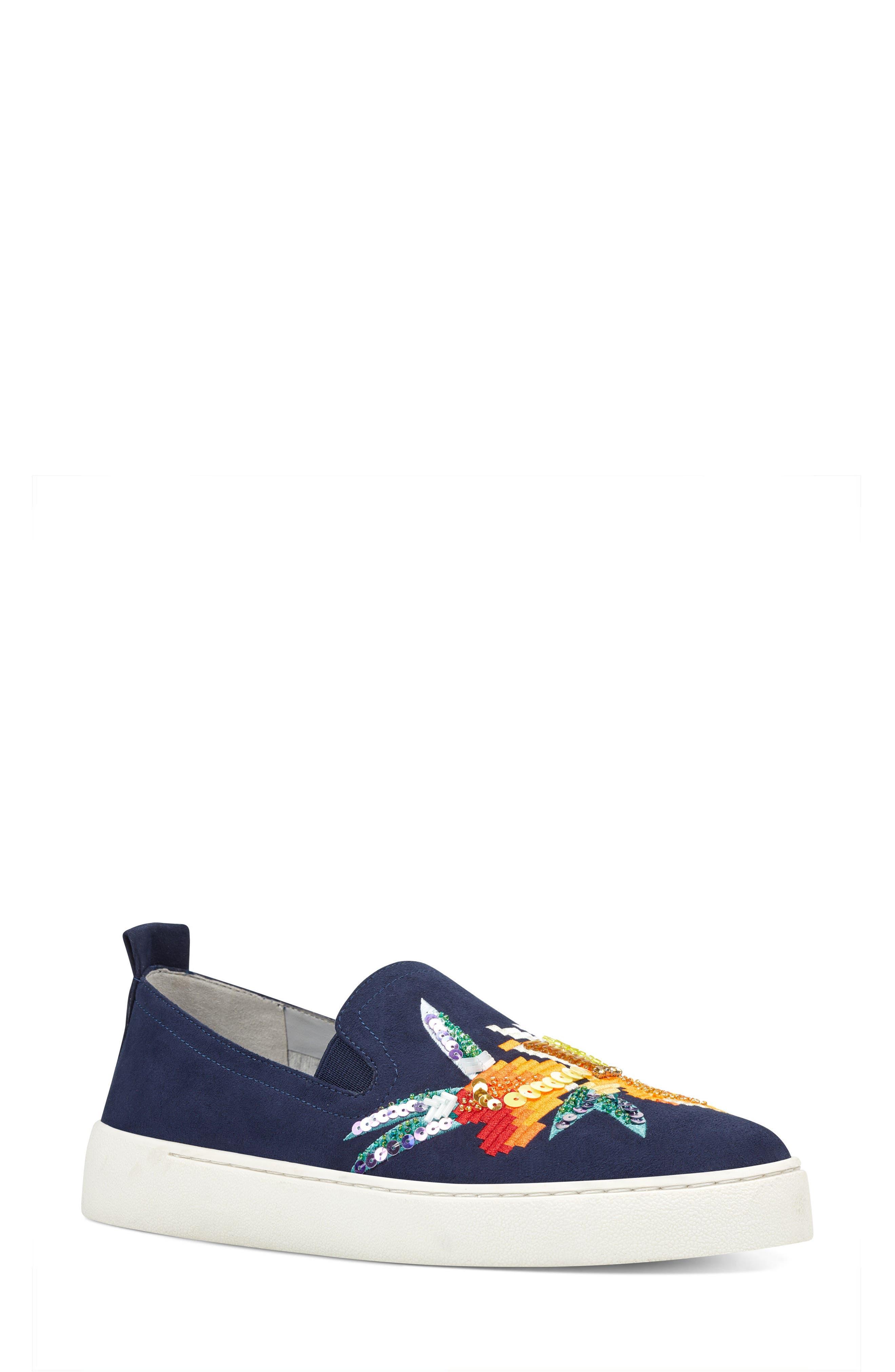 Playavista Slip-On Sneaker,                             Main thumbnail 1, color,                             Navy Suede