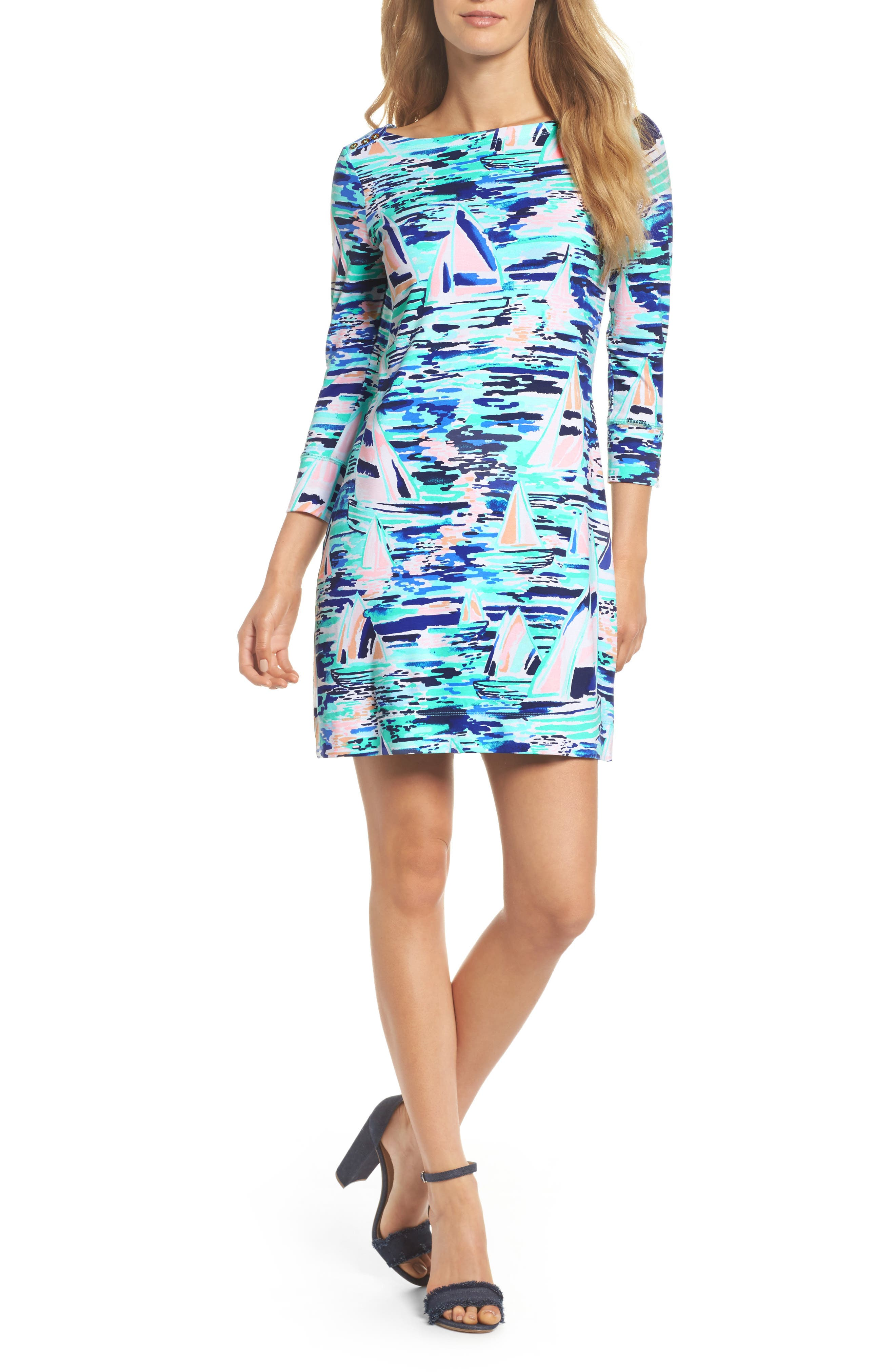 Sophie UPF 50+ Dress,                         Main,                         color, Multi Pier Pressure