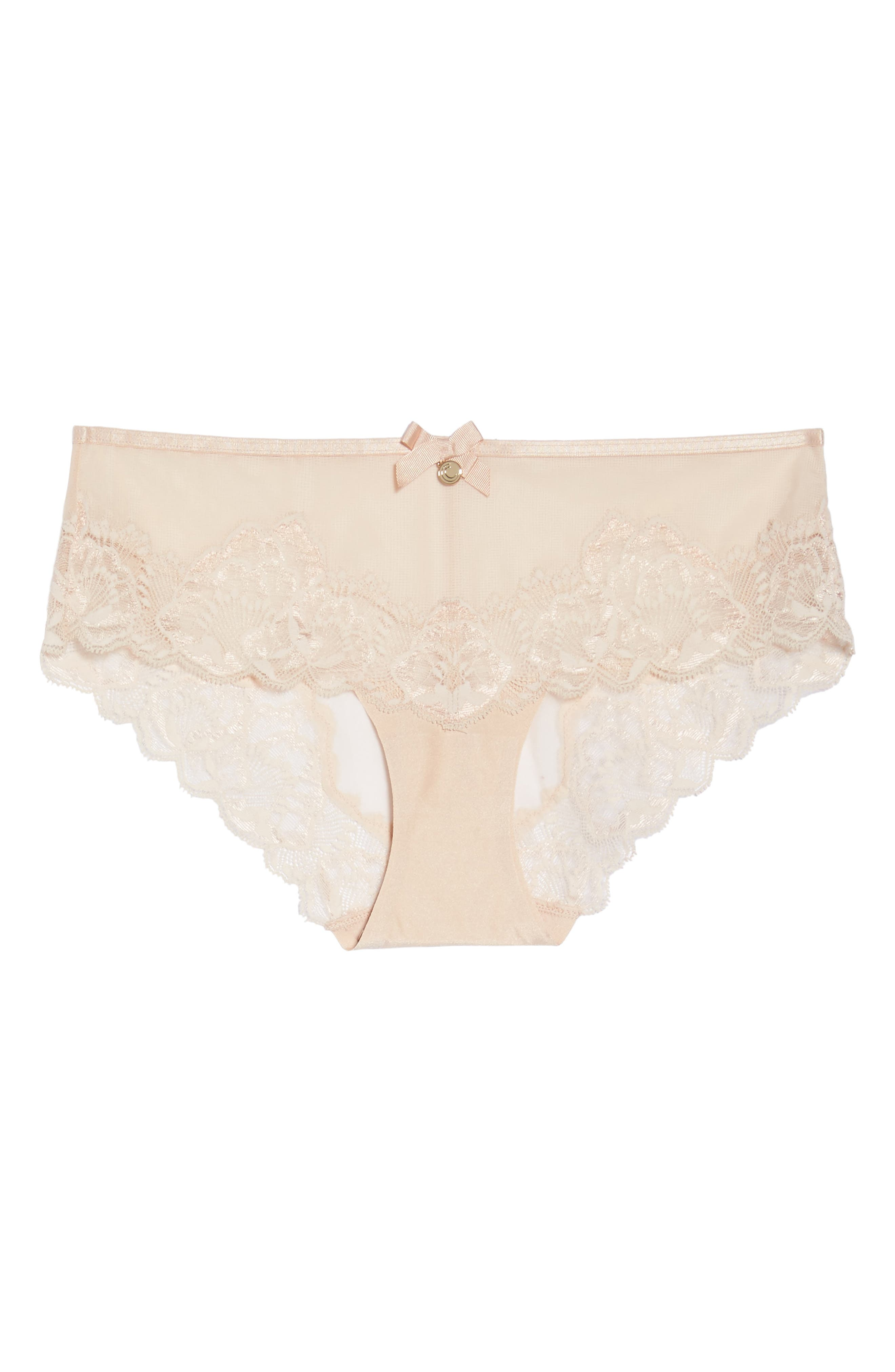 Orangerie Hipster Panties,                             Alternate thumbnail 4, color,                             Skin Rose
