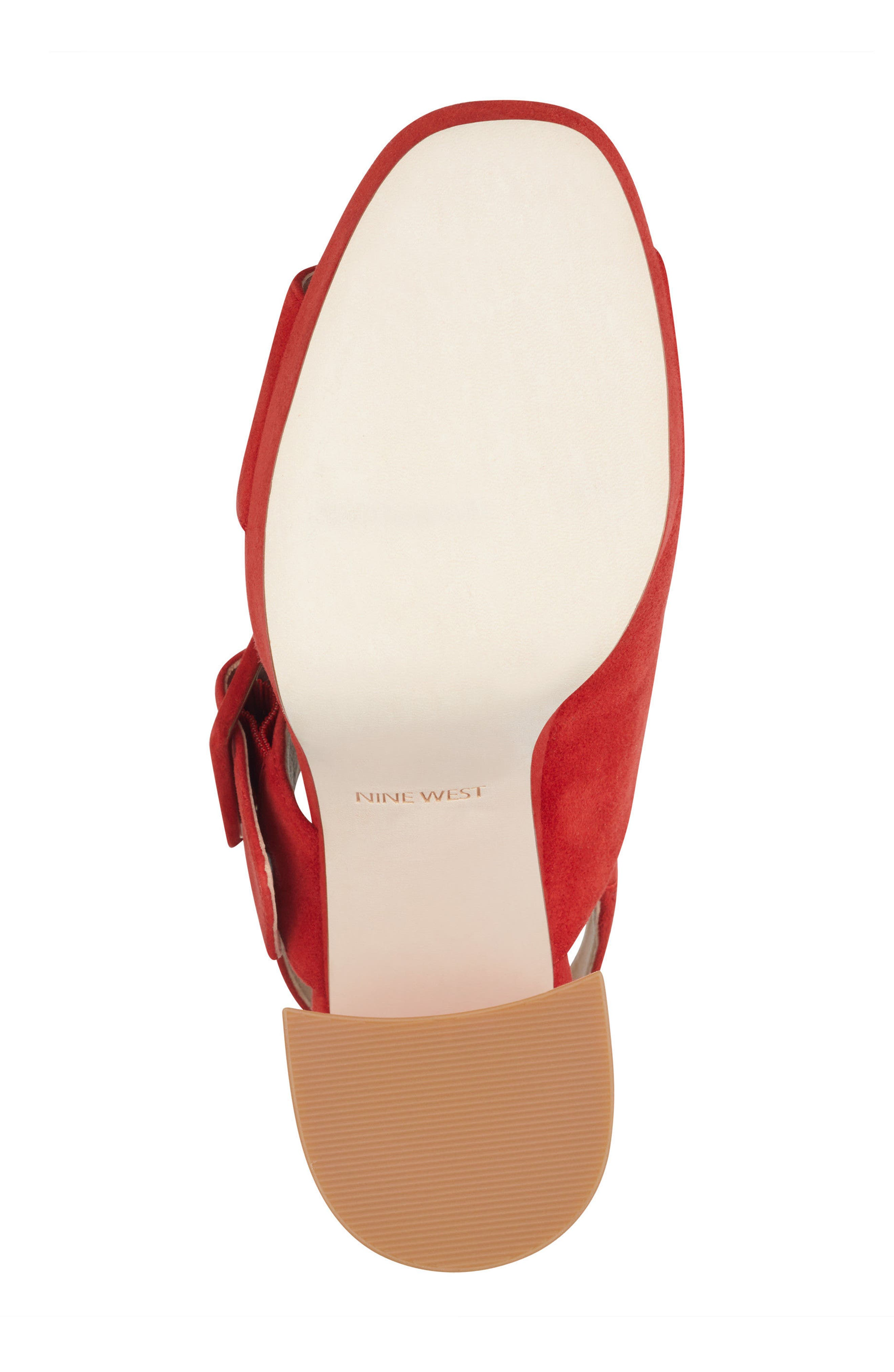 Lexine - 40th Anniversary Capsule Collection Platform Sandal,                             Alternate thumbnail 6, color,                             Red Leather