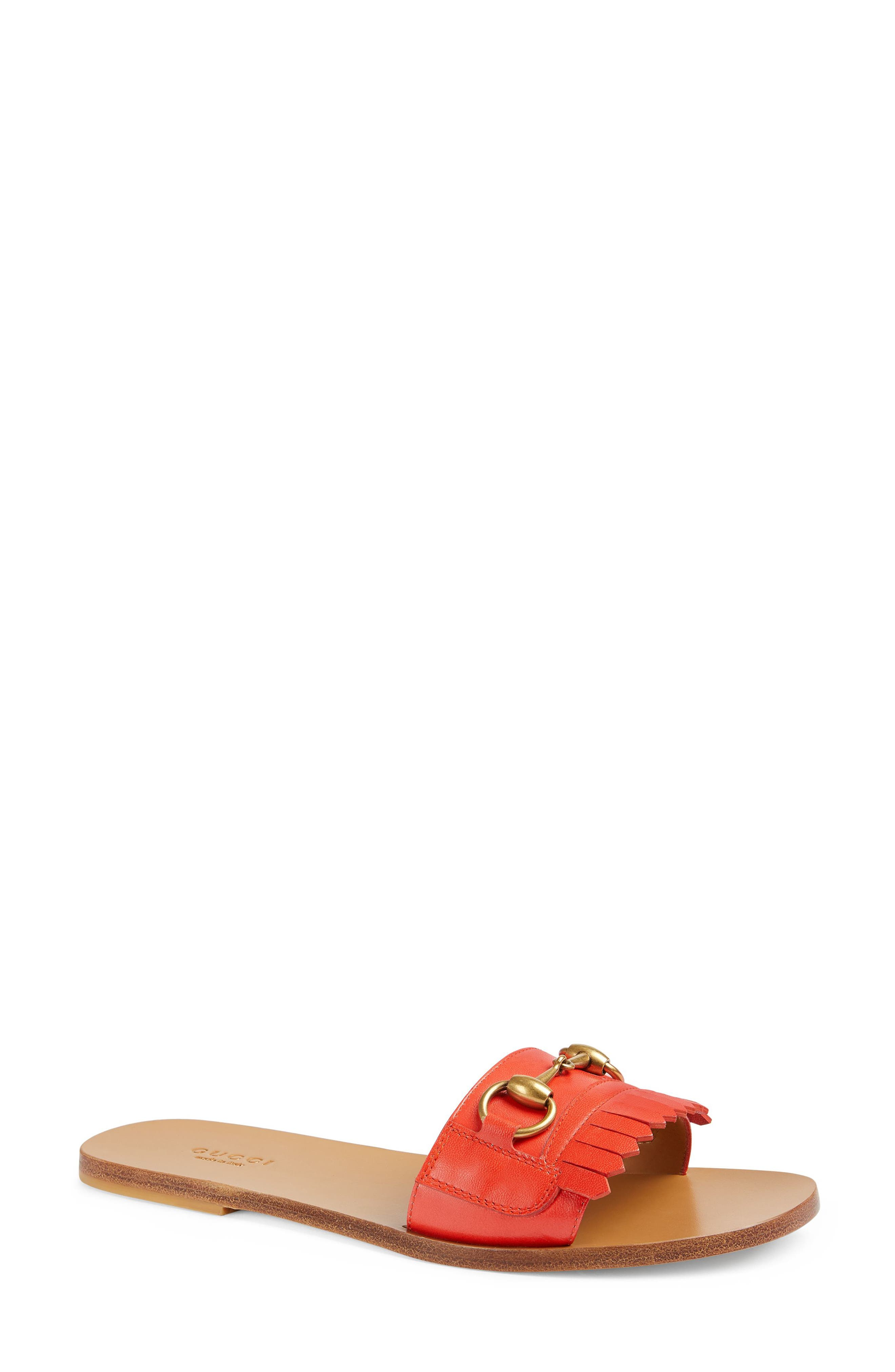 Varadero Slide Sandal,                             Main thumbnail 1, color,                             Orange