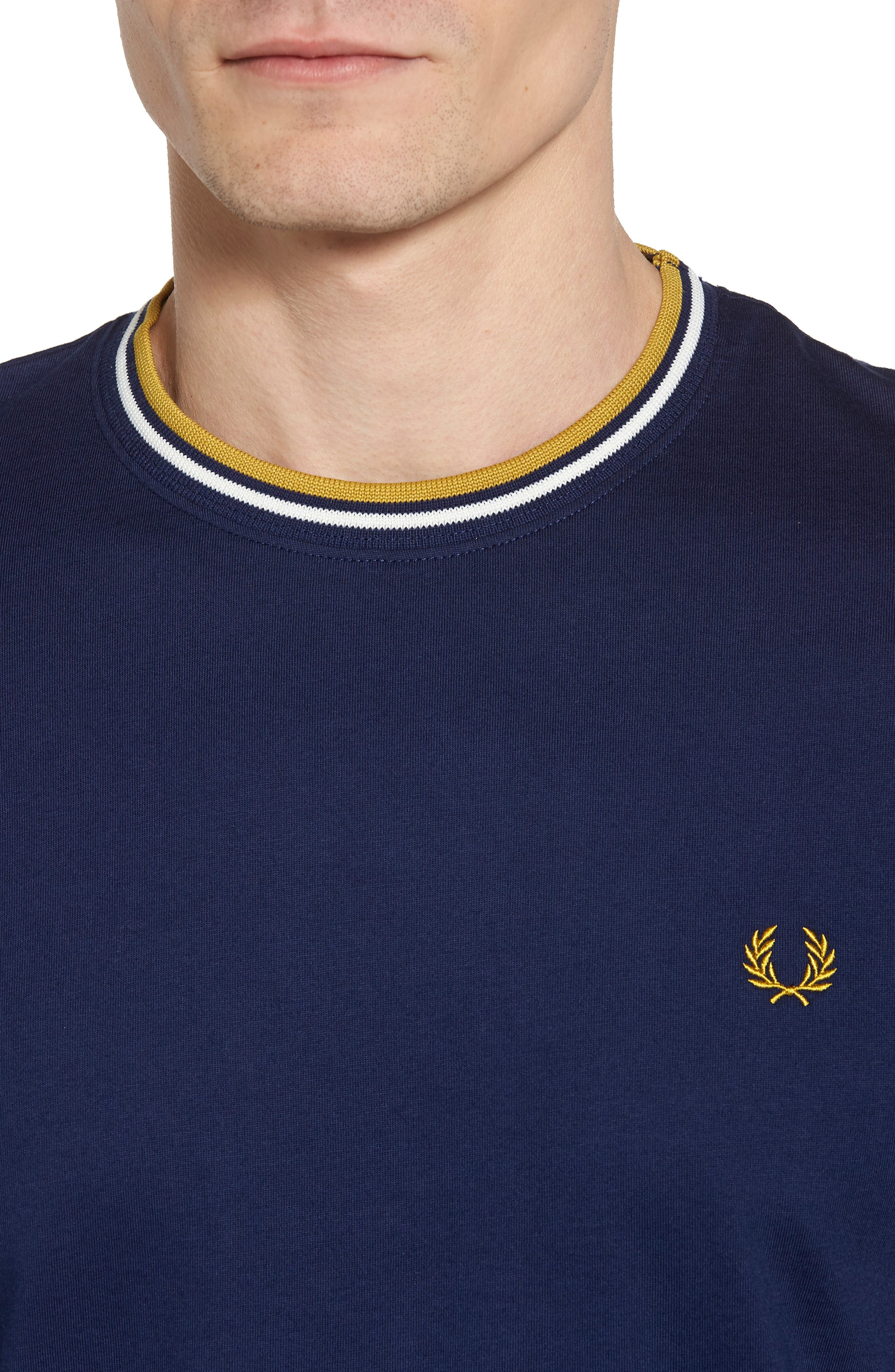 Tipped T-Shirt,                             Alternate thumbnail 4, color,                             French Navy