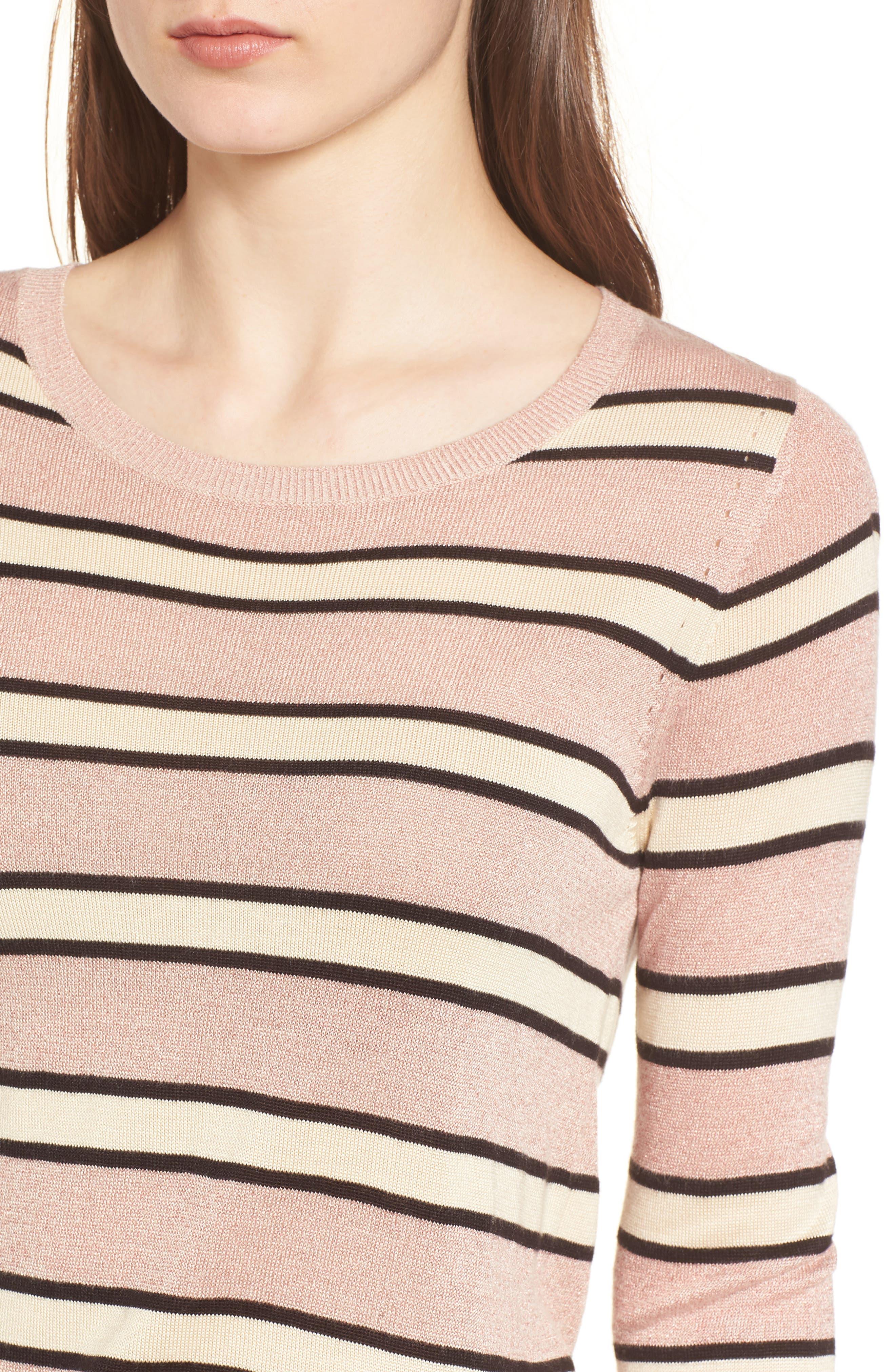 Stripe Sweater,                             Alternate thumbnail 4, color,                             Combo B