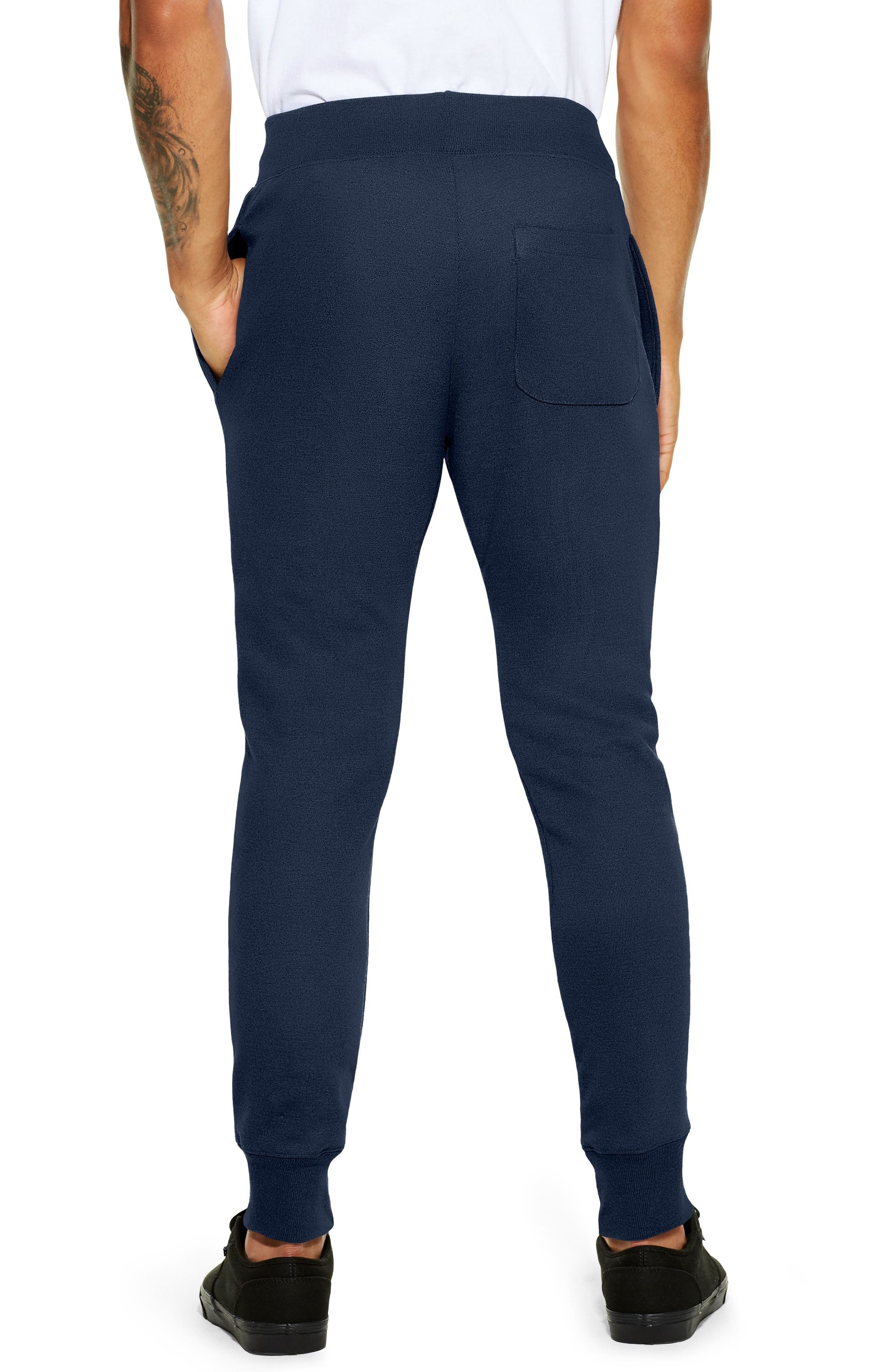 Reverse Weave<sup>®</sup> Jogger Pants,                             Alternate thumbnail 2, color,                             Navy