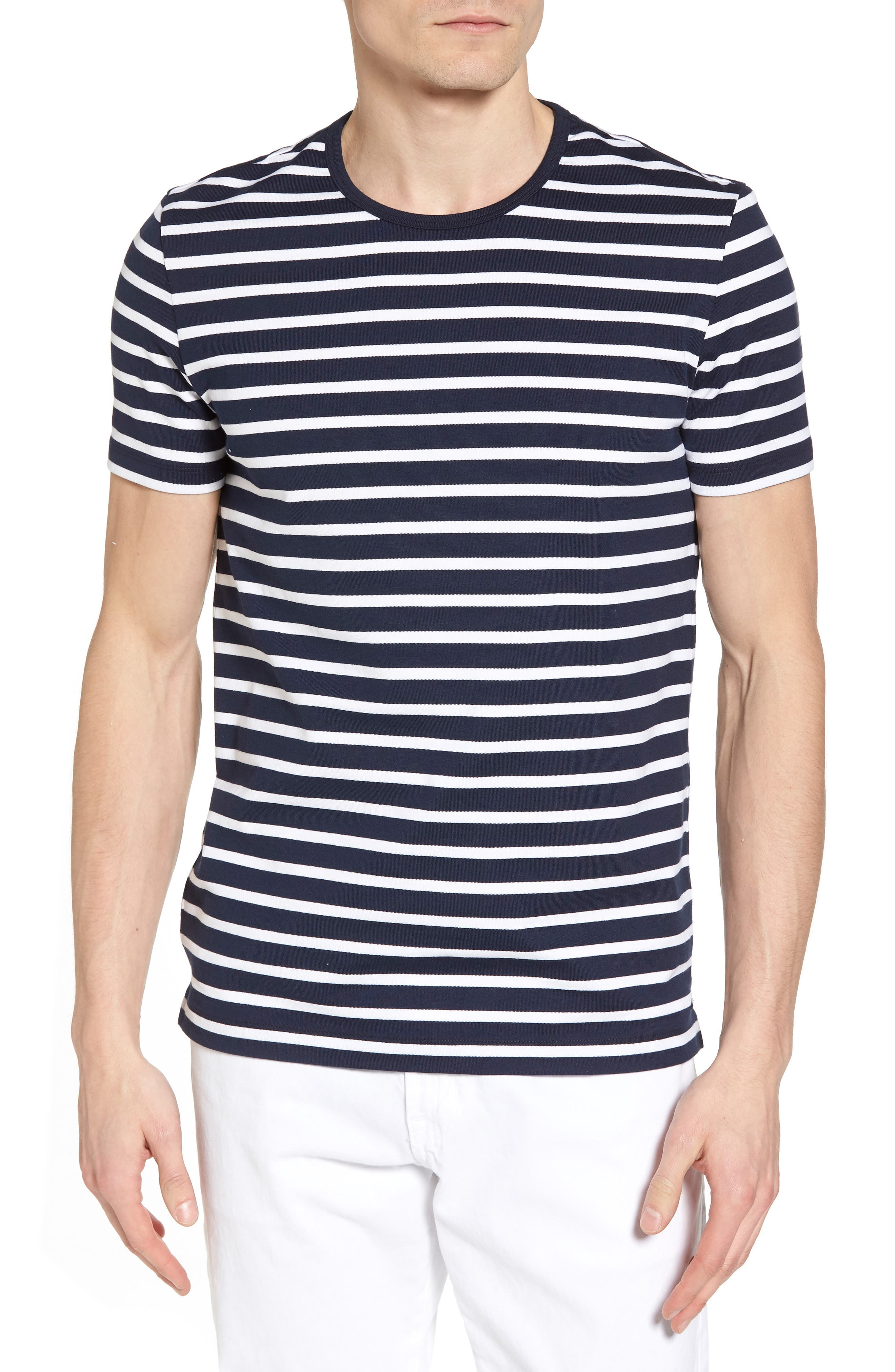 Tessler Stripe Crewneck T-Shirt,                         Main,                         color, Blue