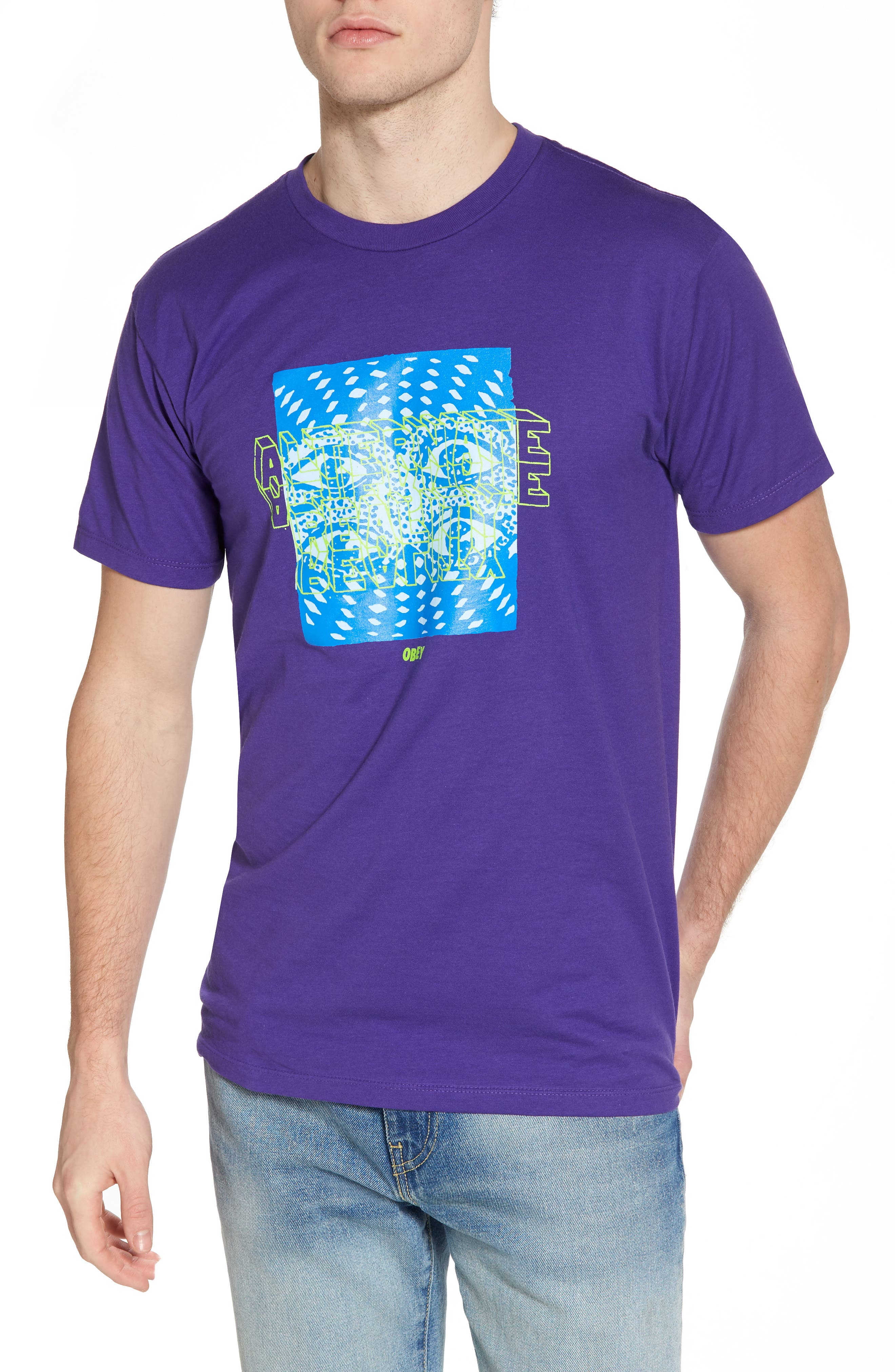 Alternate Reality Graphic T-Shirt,                             Main thumbnail 1, color,                             Purple