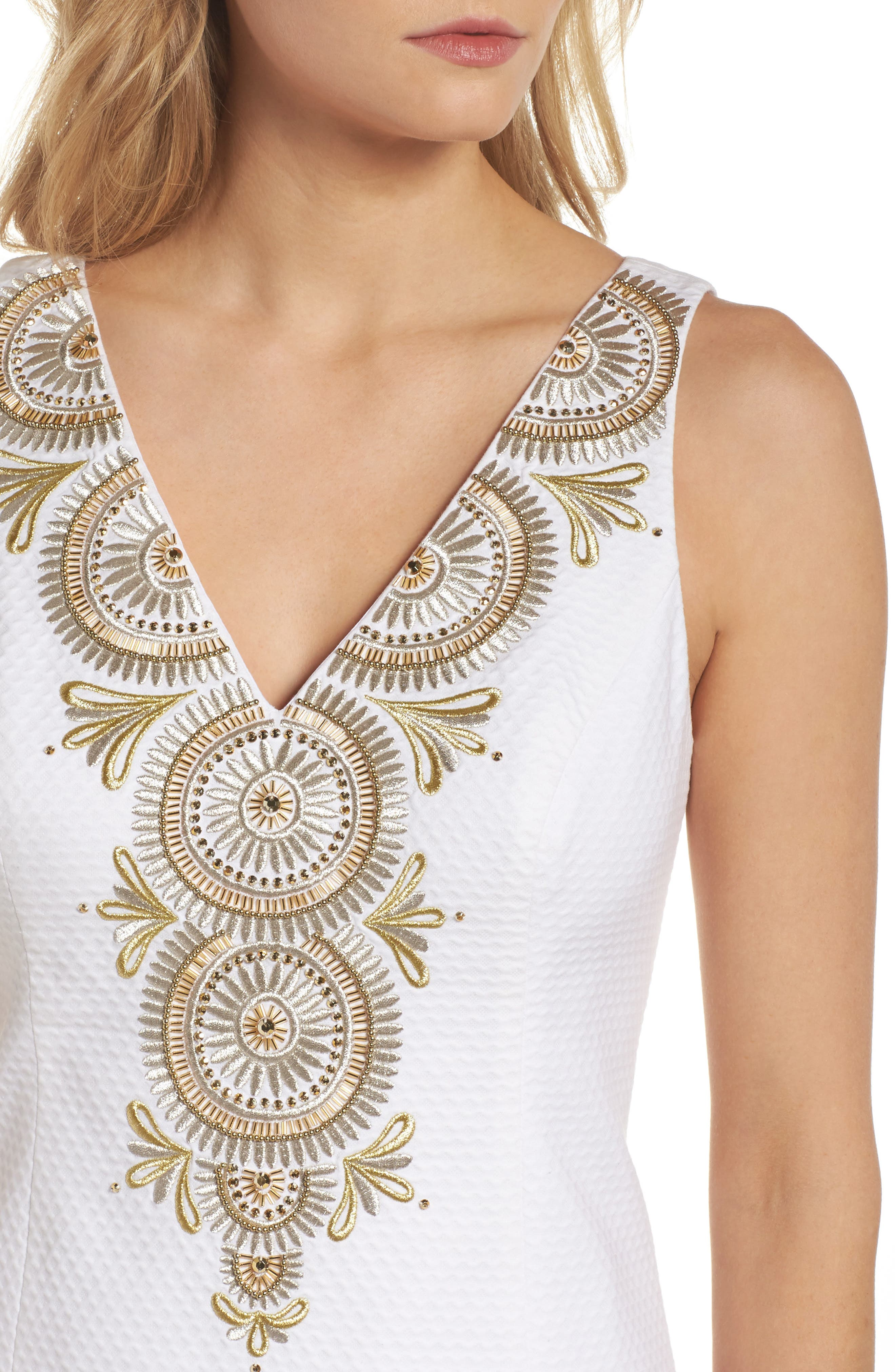 Alternate Image 4  - Lilly Pulitzer® Gabby Metallic Sheath Dress