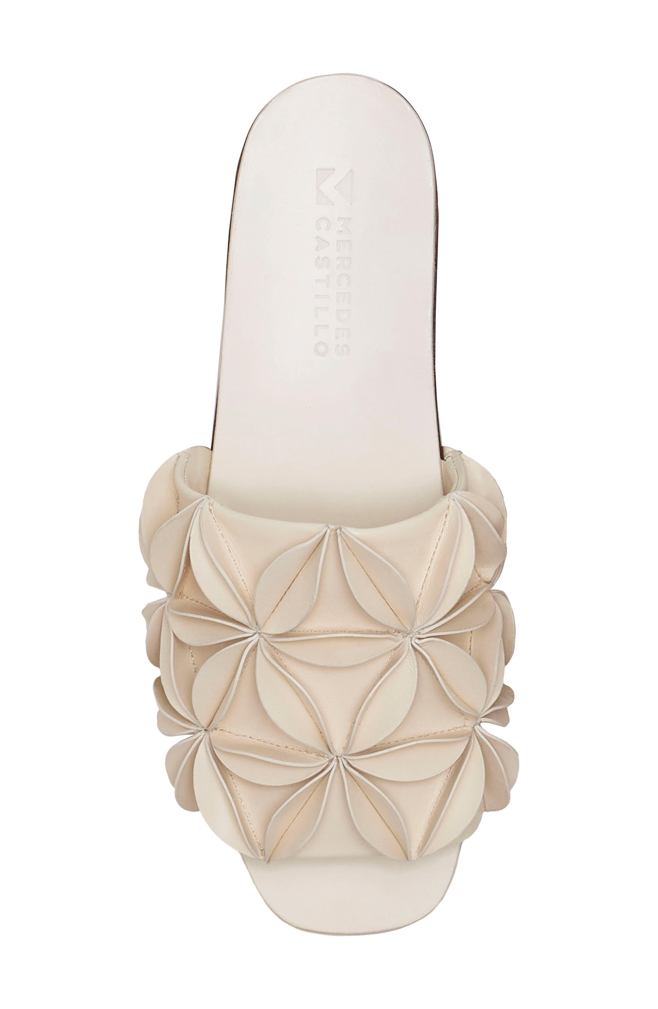 Natalea Floral Platform Mule,                             Alternate thumbnail 5, color,                             Ivory