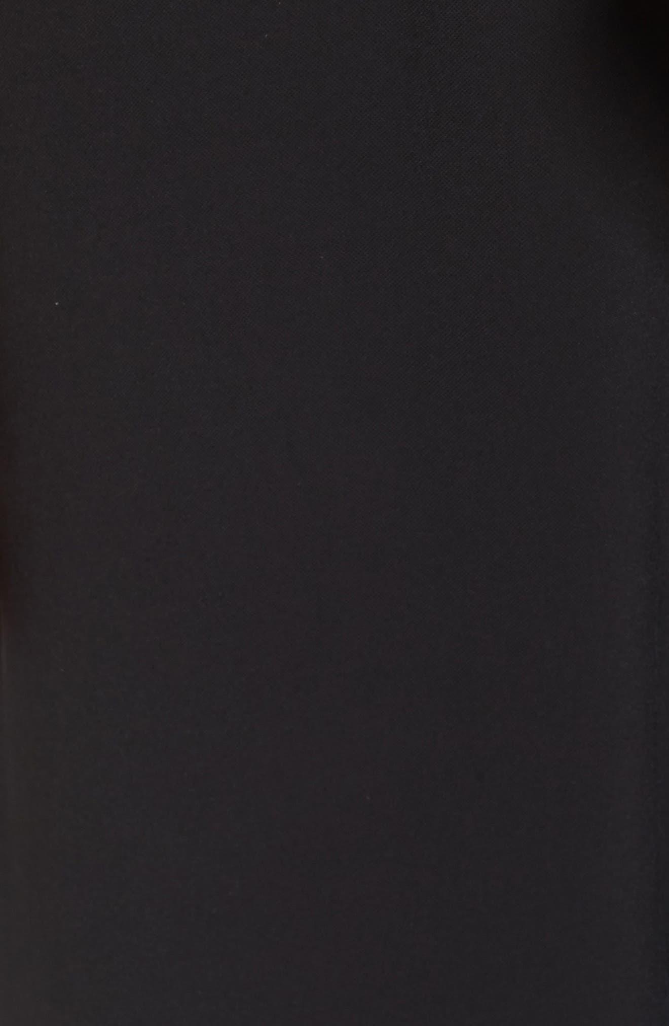 Contrast Trim Crop Jumpsuit,                             Alternate thumbnail 5, color,                             Black/ Ivory