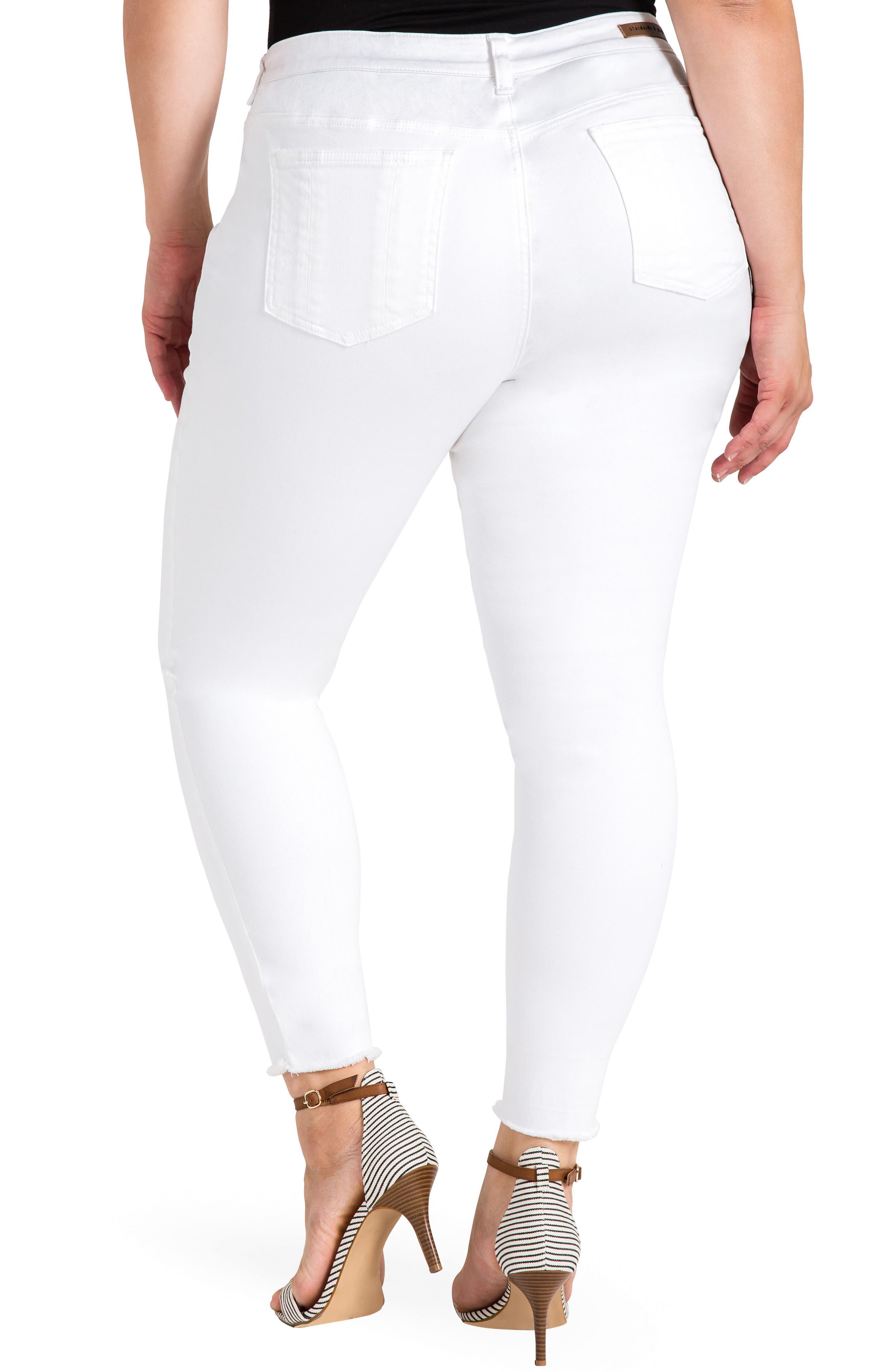Virginia Ankle Skinny Jeans,                             Alternate thumbnail 2, color,                             3087Powderwt - White
