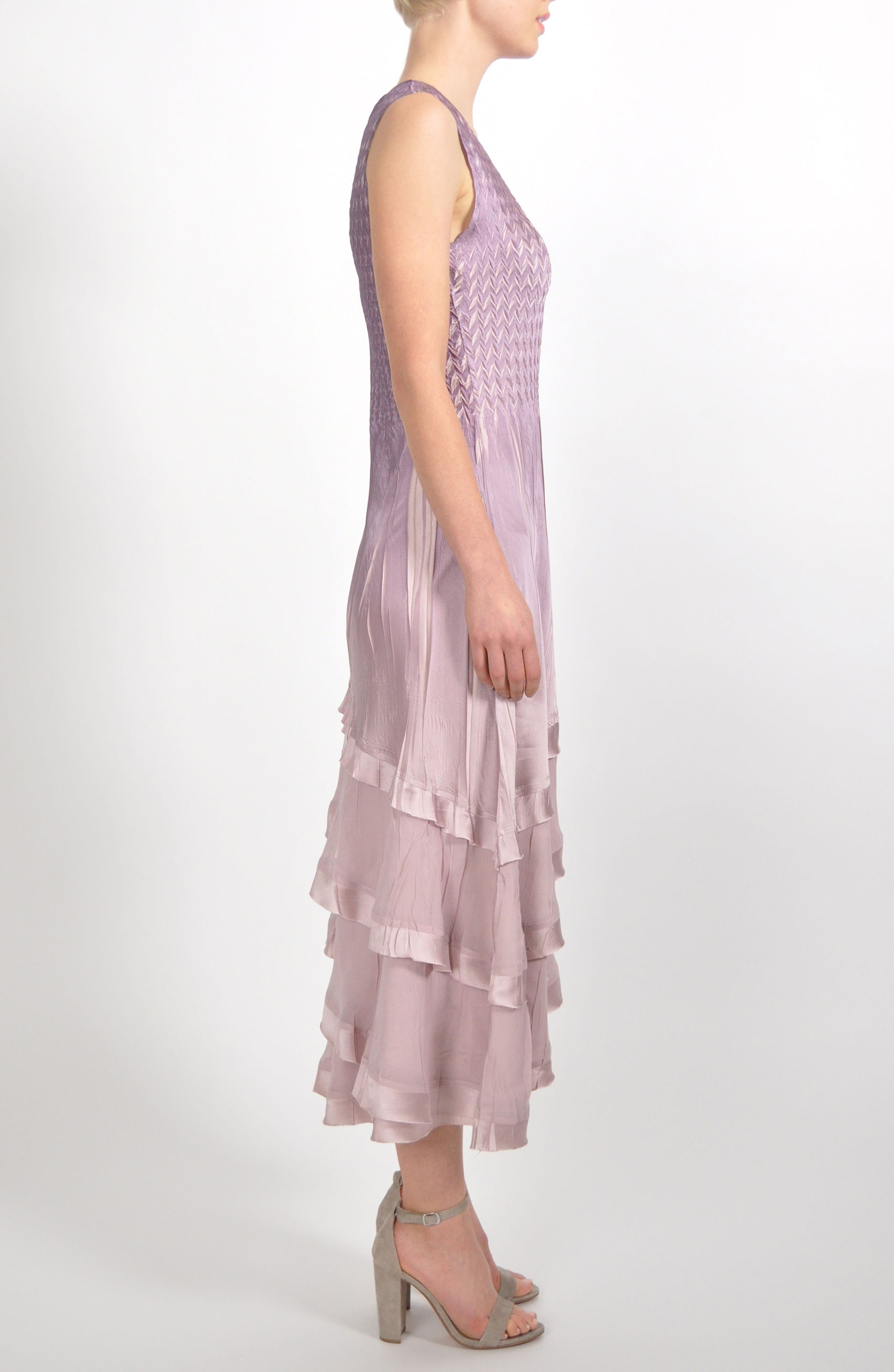 Tiered Hem Dress with Jacket,                             Alternate thumbnail 2, color,                             Lotus Orchid Ombre