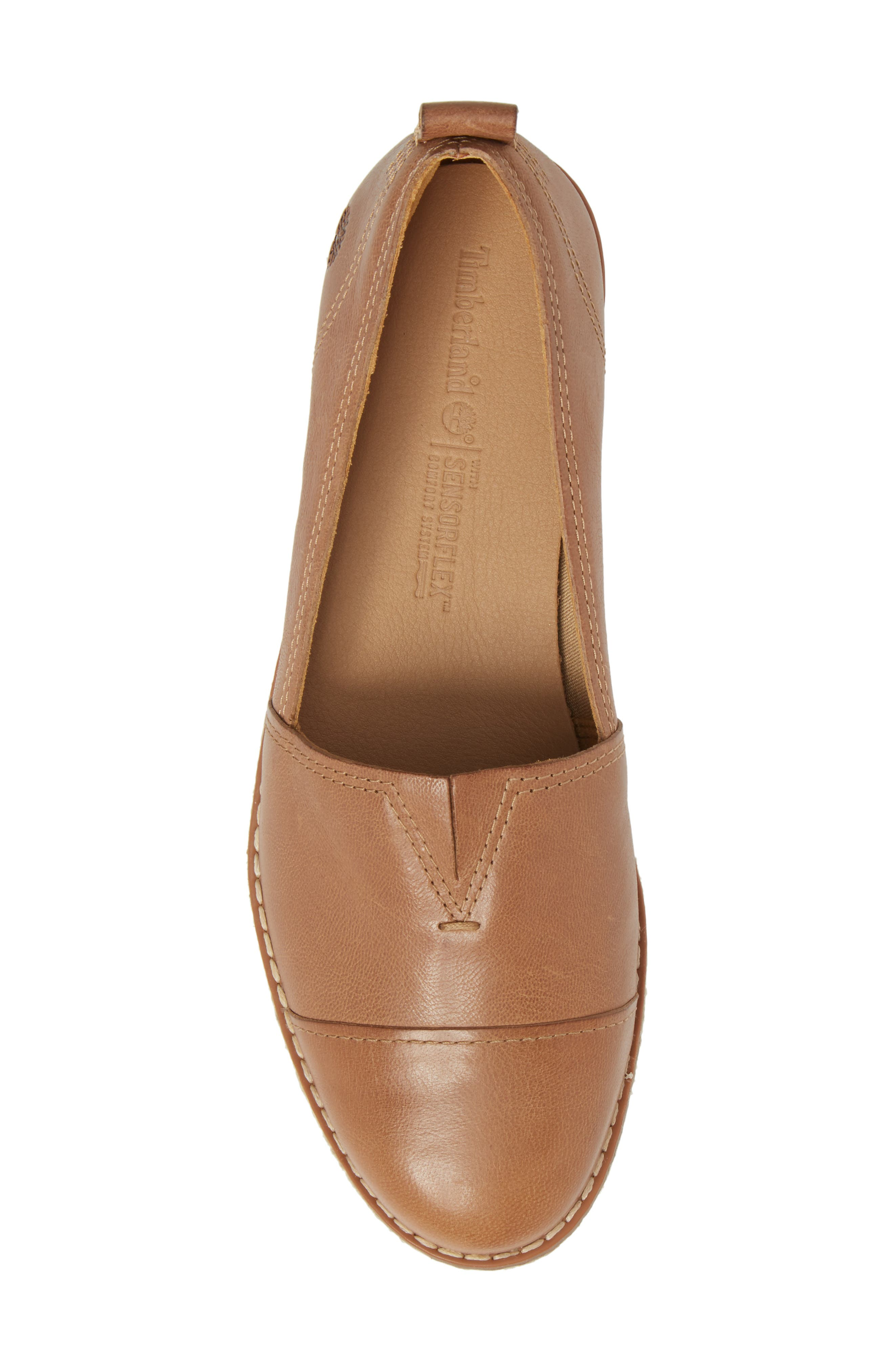 Emerson Platform Slip-On,                             Alternate thumbnail 5, color,                             Iced Coffee Leather