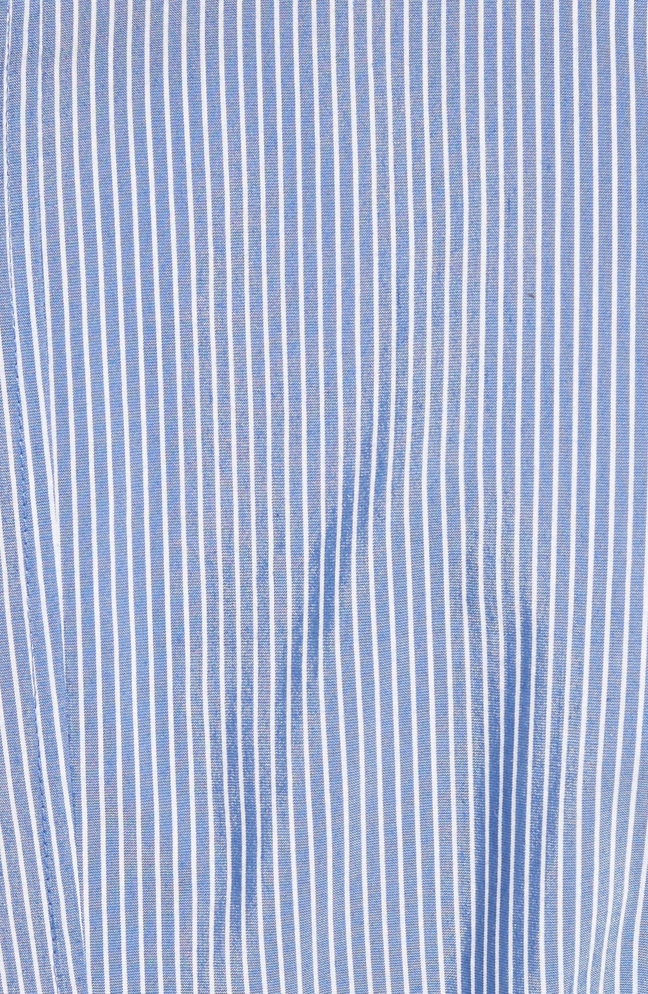Cordelia Tie Waist Blouse,                             Alternate thumbnail 5, color,                             Delft Multi