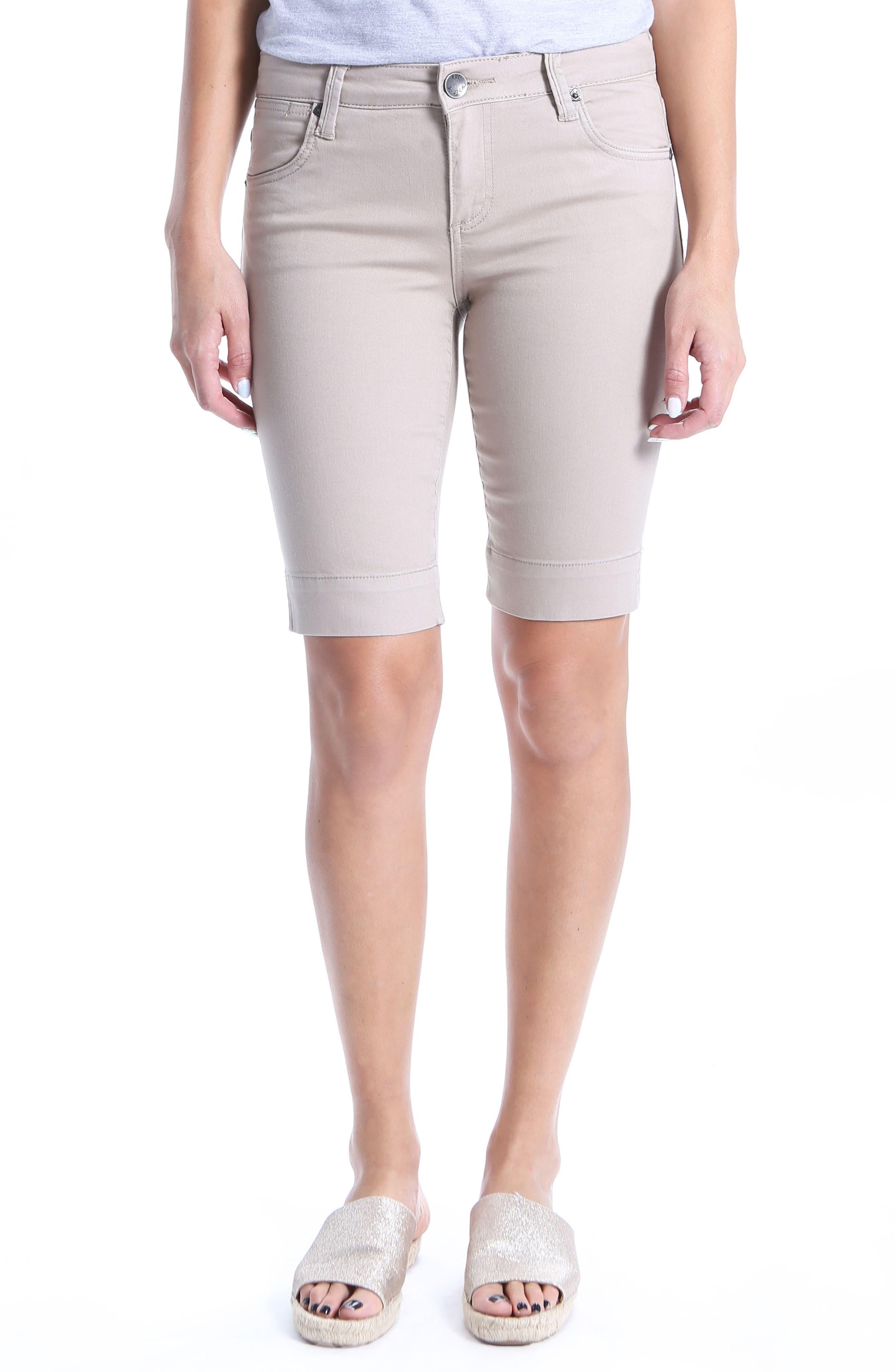 Natalie Bermuda Shorts,                         Main,                         color, Light Taupe