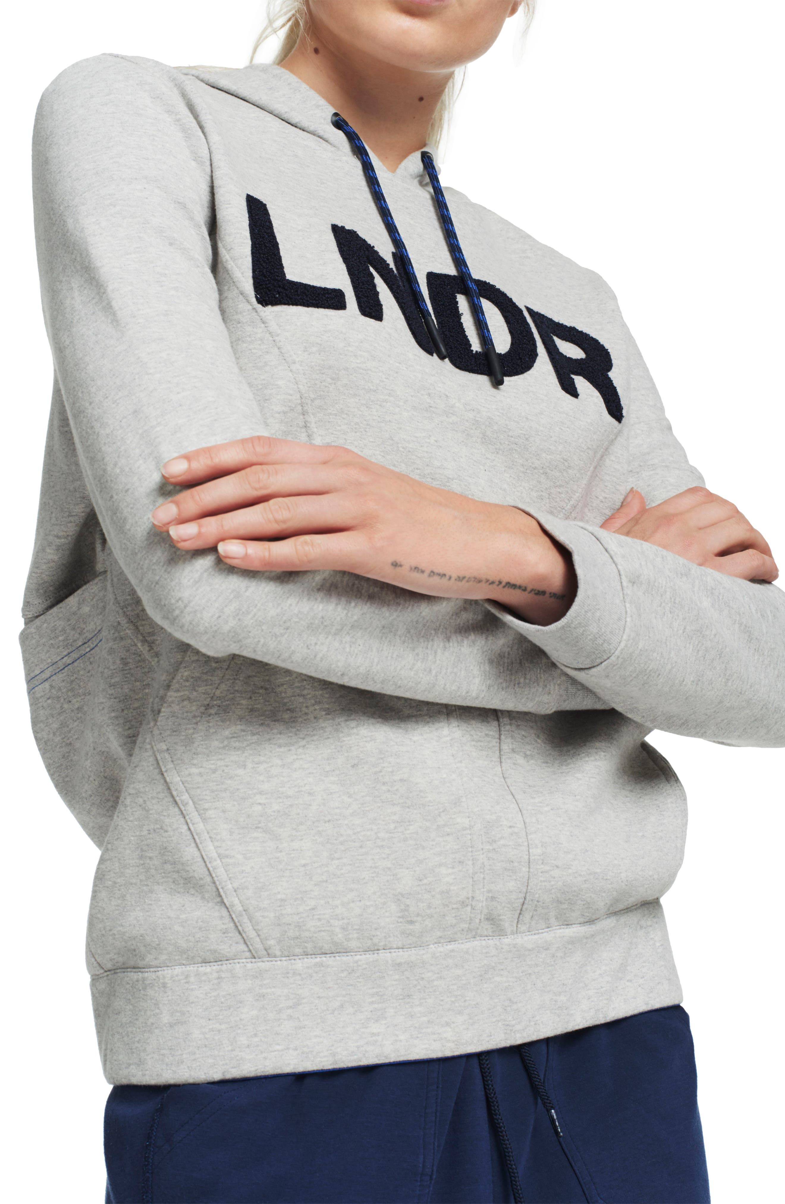 College Hoodie,                         Main,                         color, Grey Marl