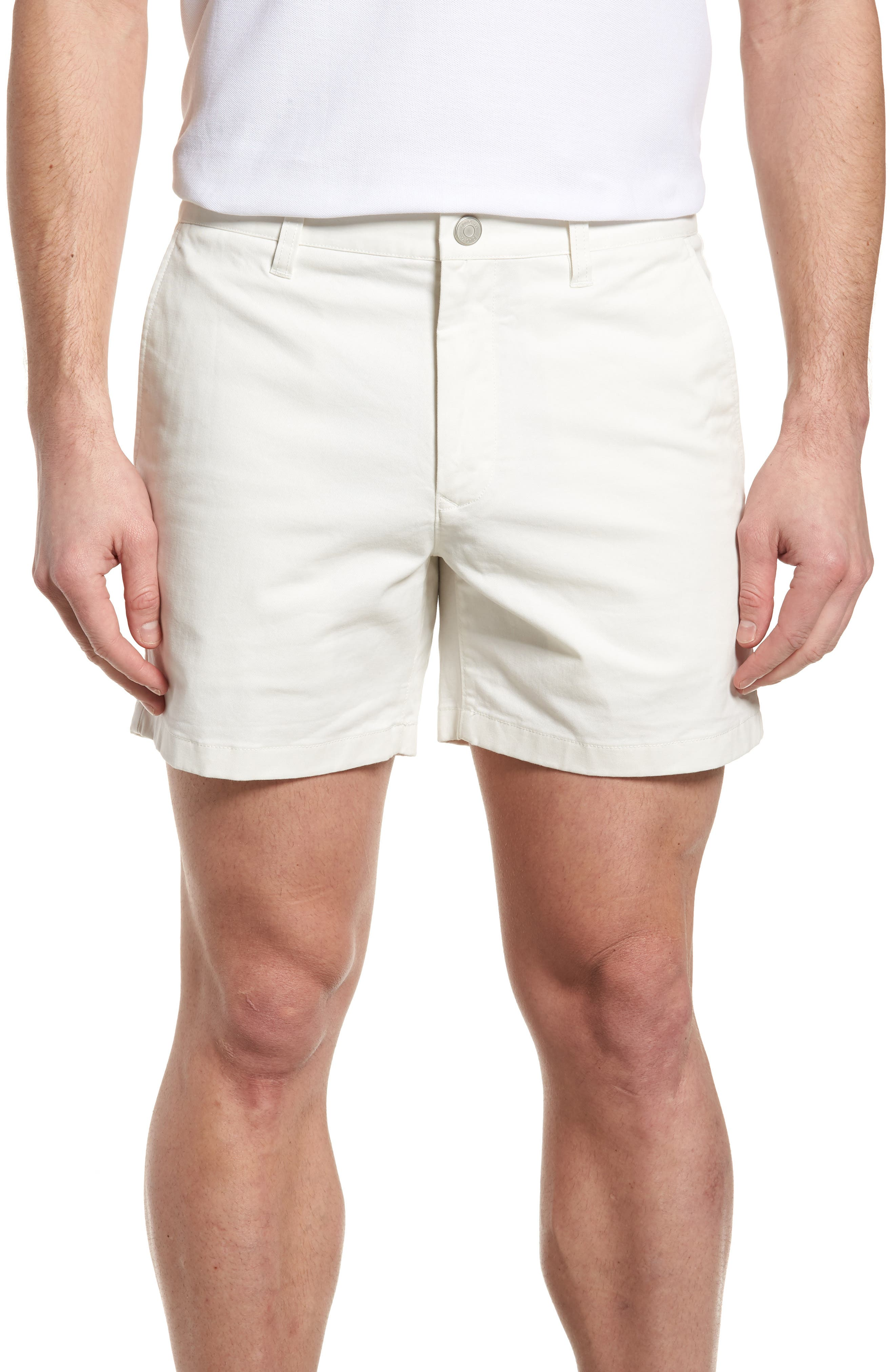 Stretch Washed Chino 5-Inch Shorts,                         Main,                         color, Full Sail Off White