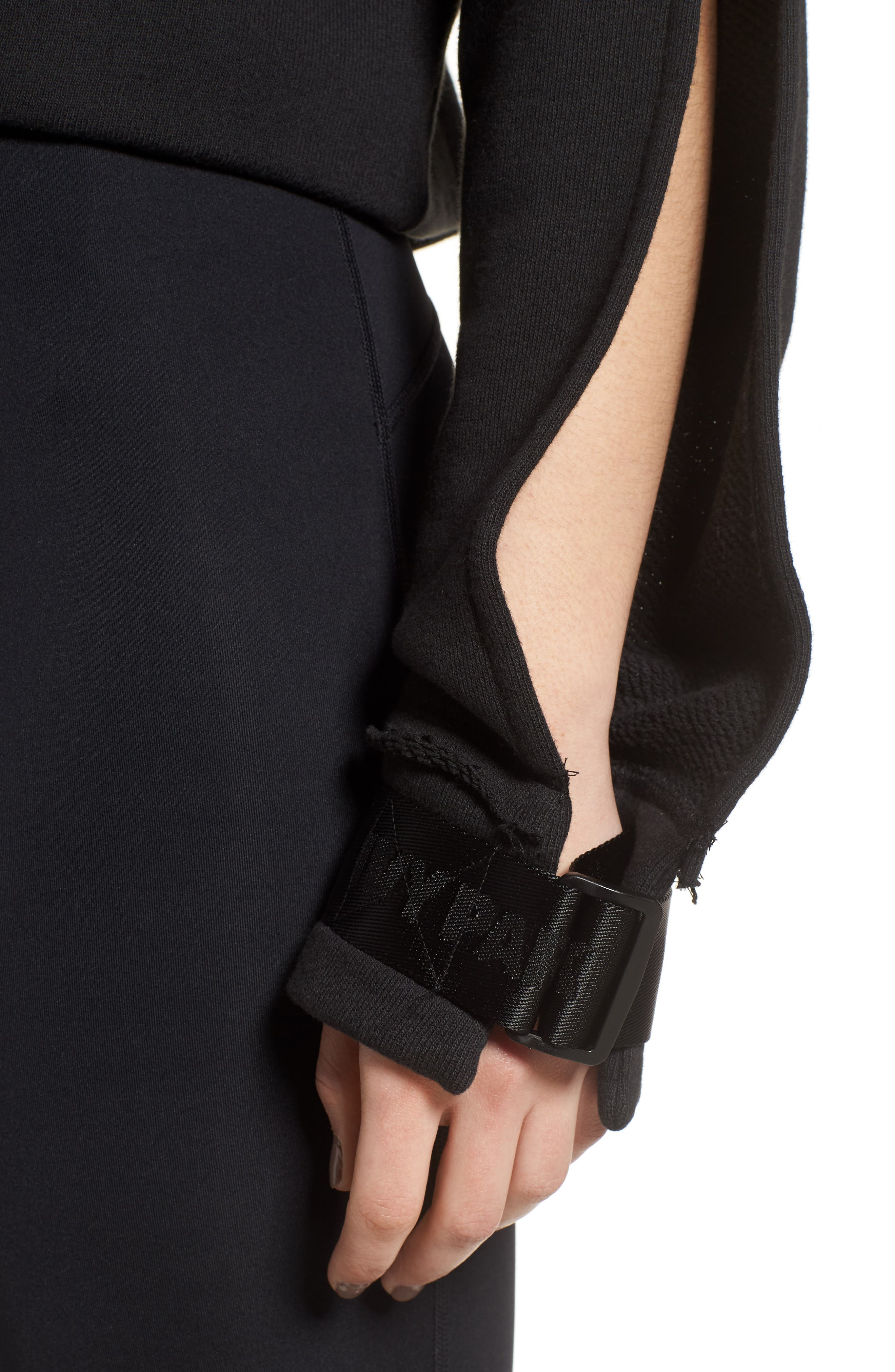 Harness Strap Sweatshirt,                             Alternate thumbnail 4, color,                             Black