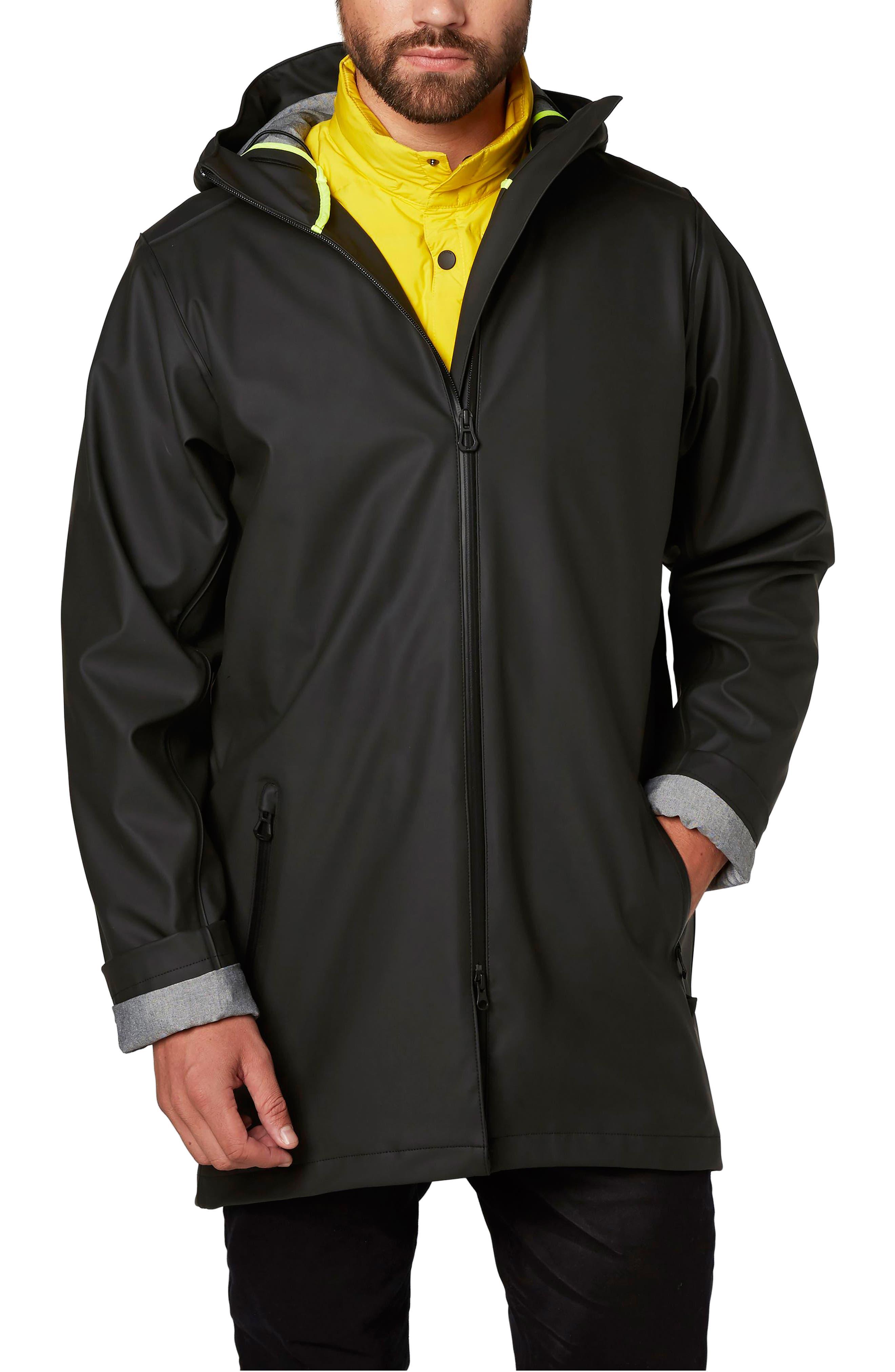 Copenhagen Raincoat,                         Main,                         color, Black