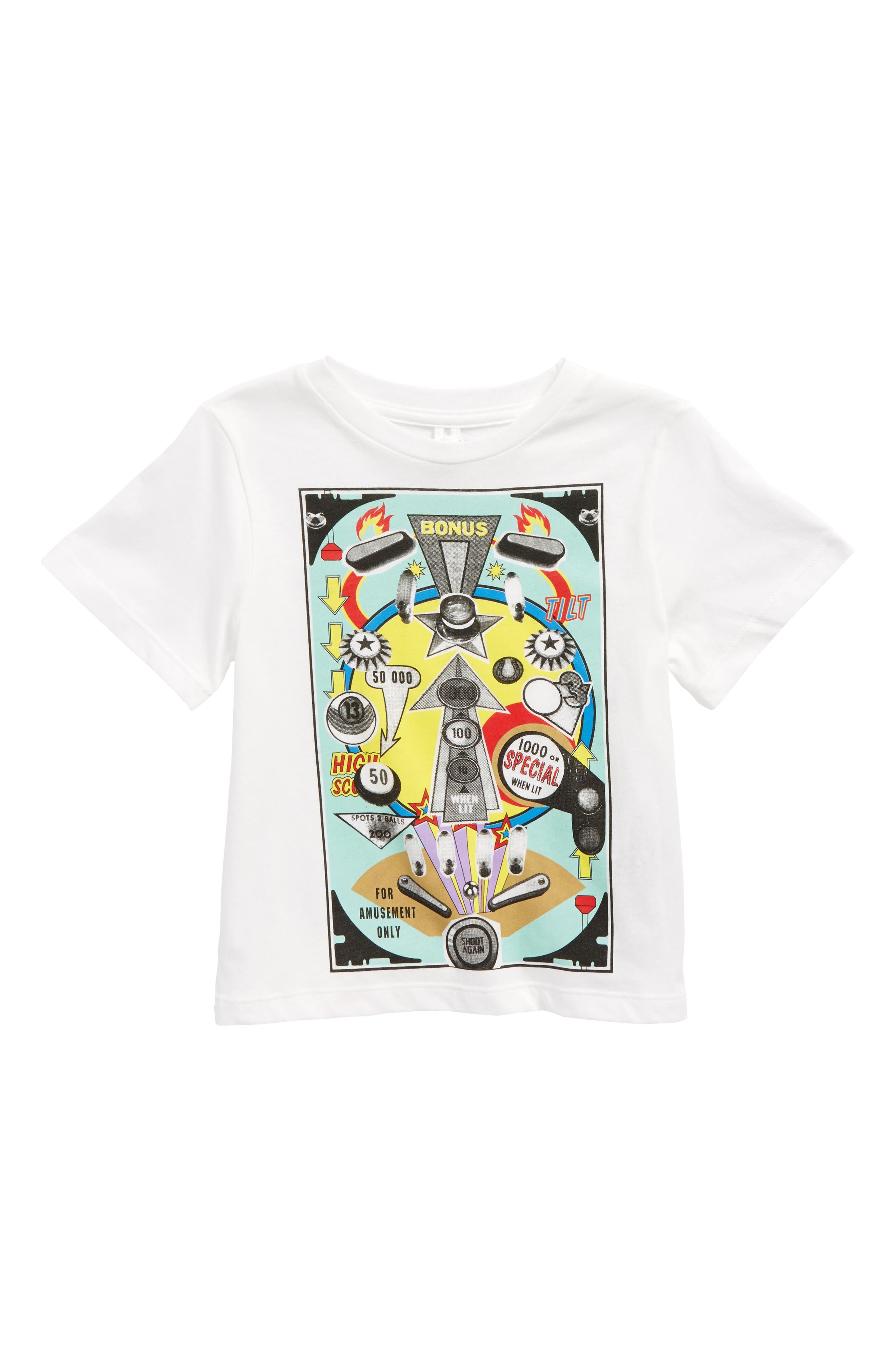 Arrow Pinball Machine Graphic T-Shirt,                         Main,                         color, White