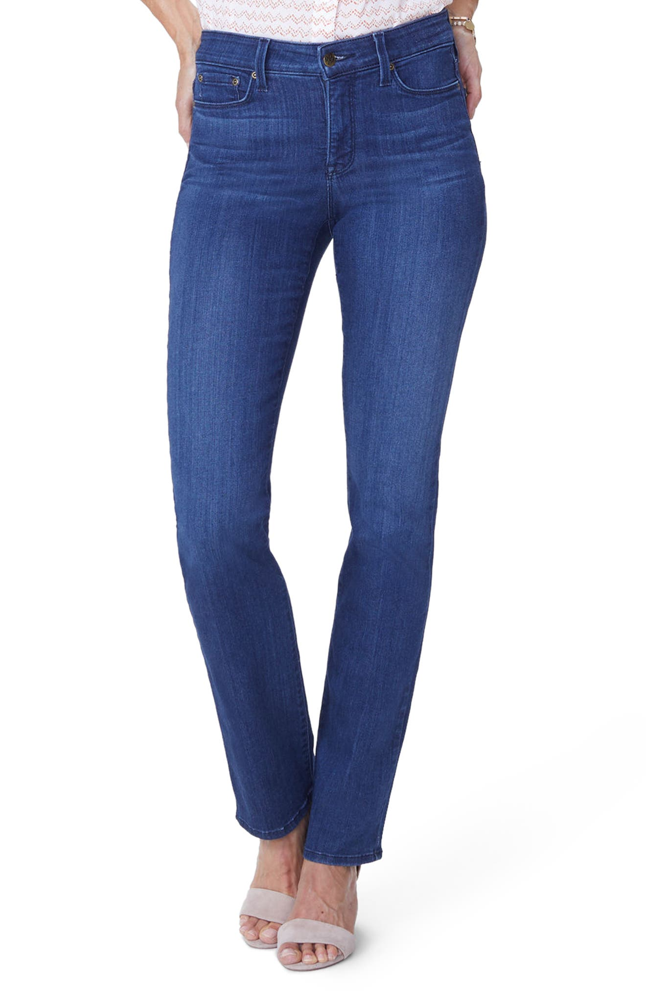 Marilyn Straight Jeans,                         Main,                         color, Lark