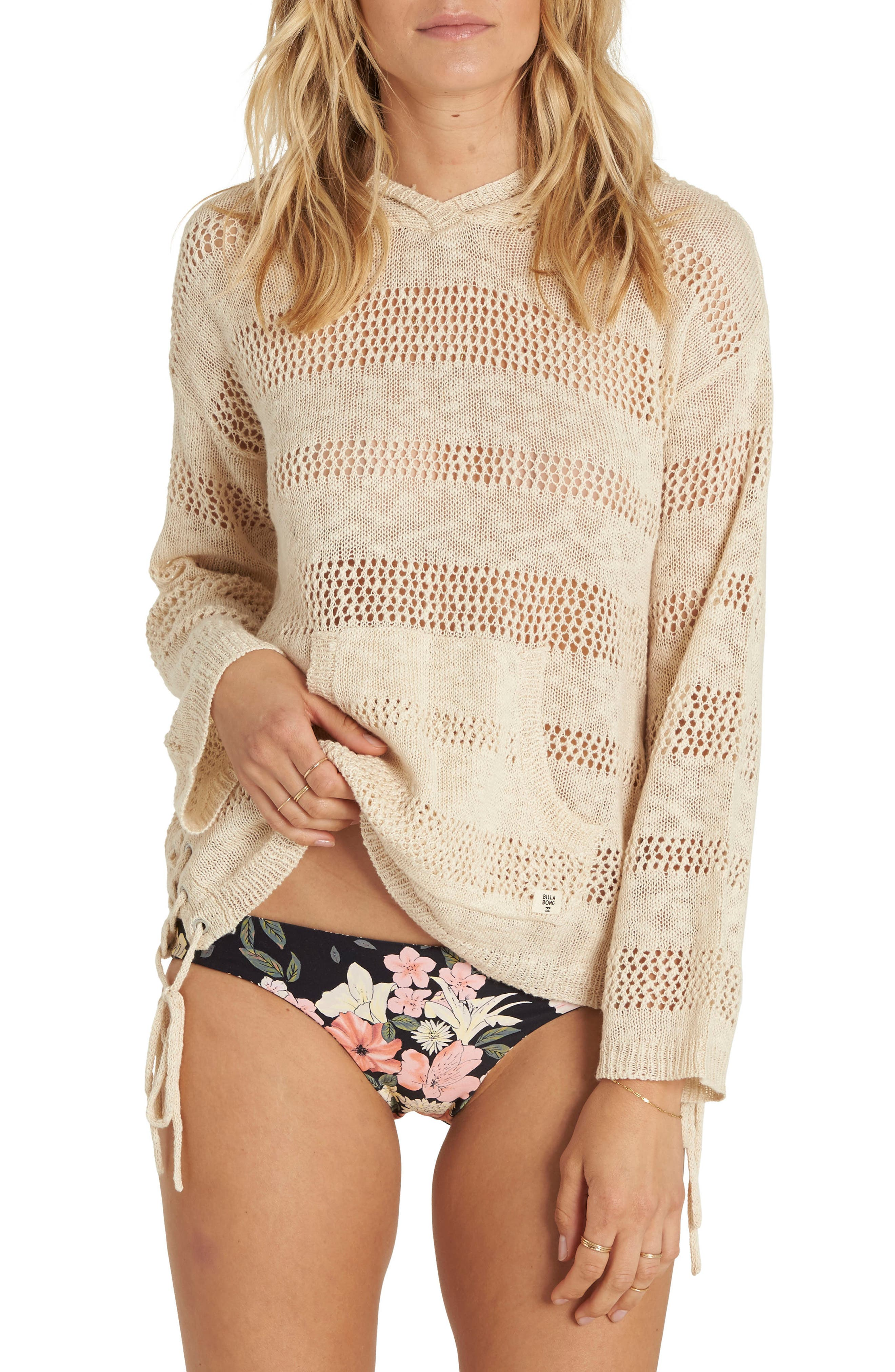 To the Limit Hooded Sweater,                         Main,                         color, Ivory