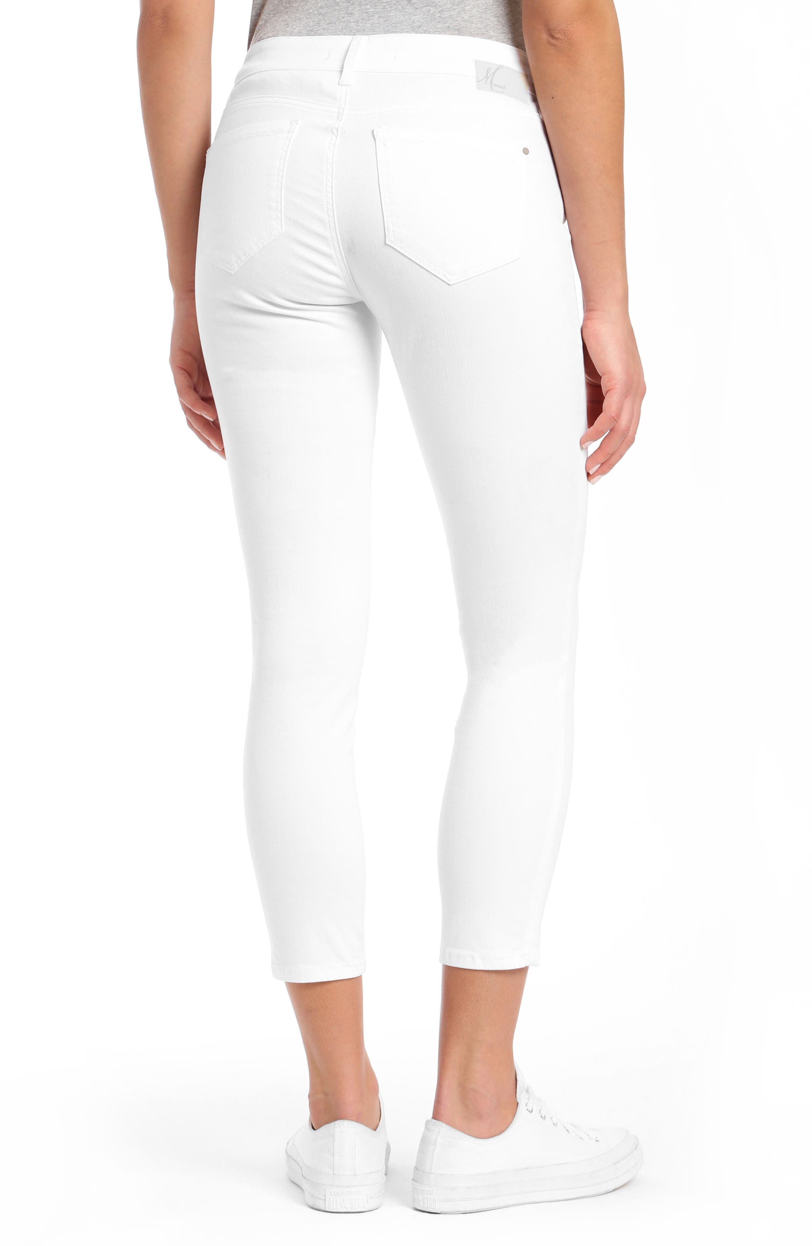 Adriana Ankle Jeans,                             Alternate thumbnail 2, color,                             White Tribeca