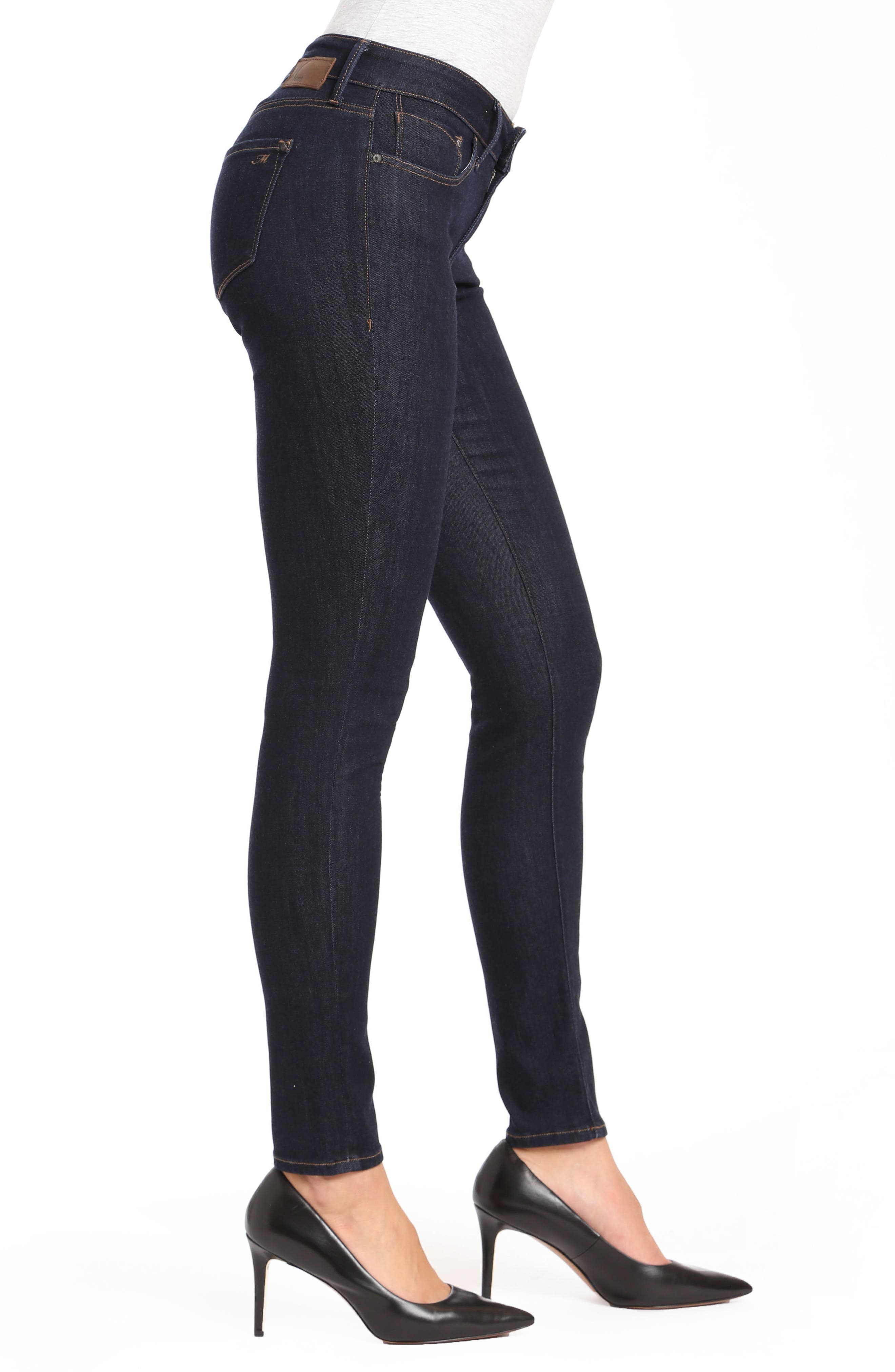 Alternate Image 3  - Mavi Alexa Supersoft Skinny Jeans (Dark Rinse)